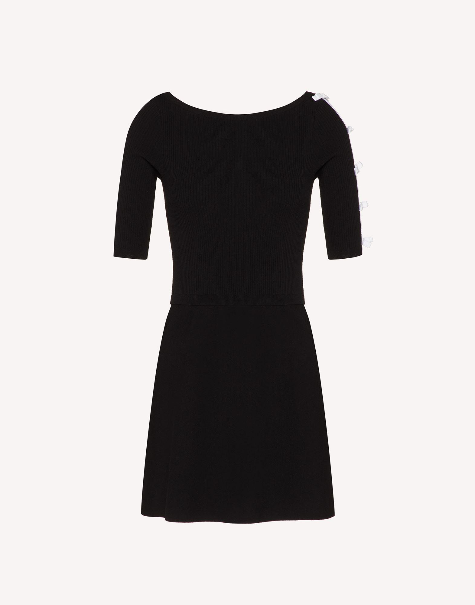 STRETCH VISCOSE KNIT DRESS WITH BOW DETAILS 3