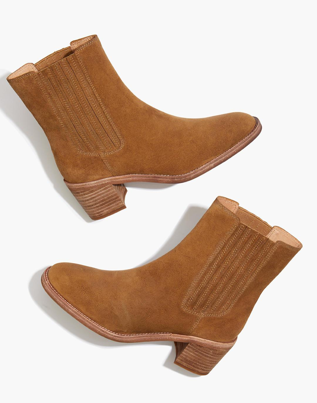 The Autumn High Chelsea Boot in Suede