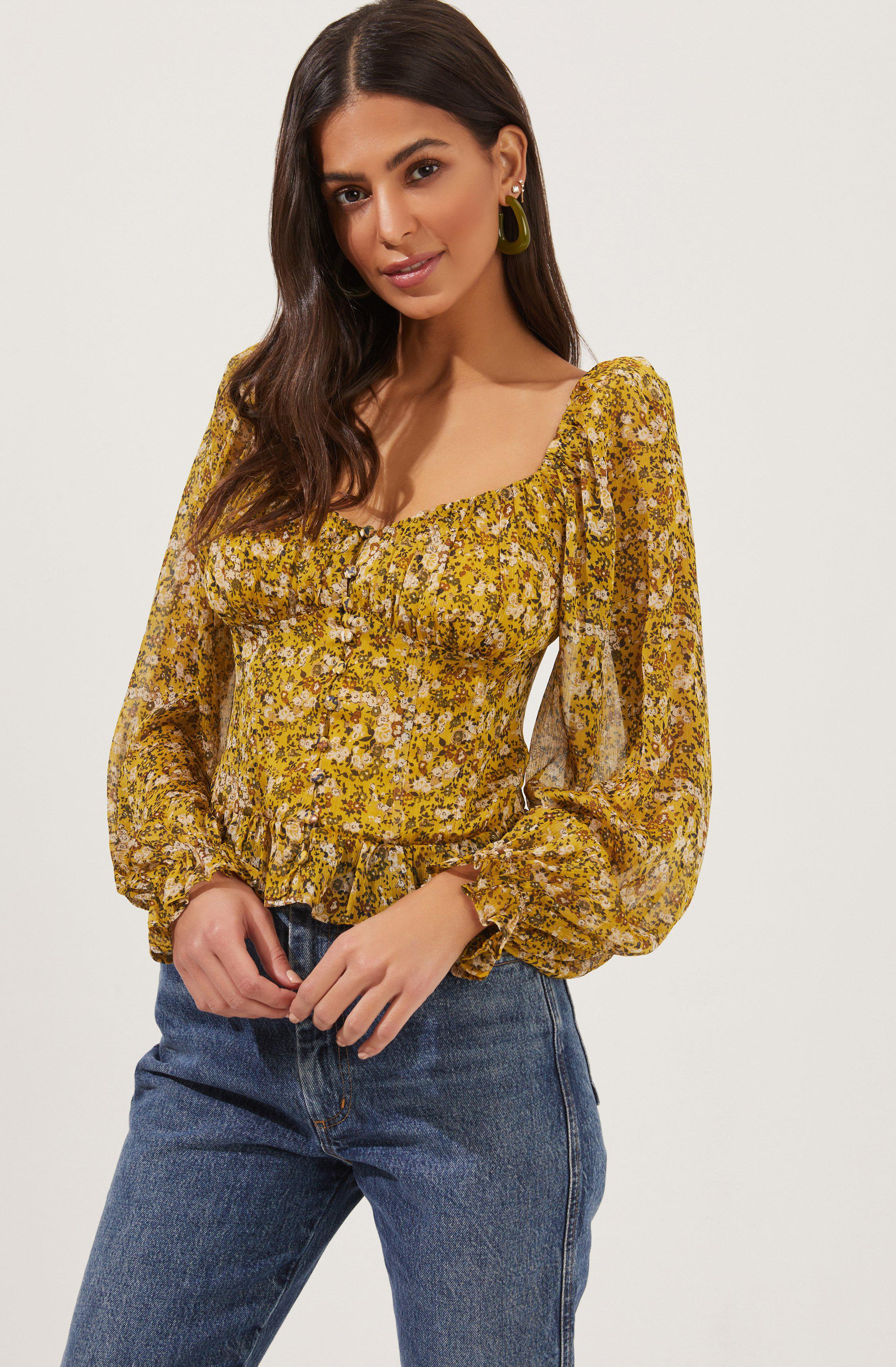 Concord Floral Long Sleeve Top