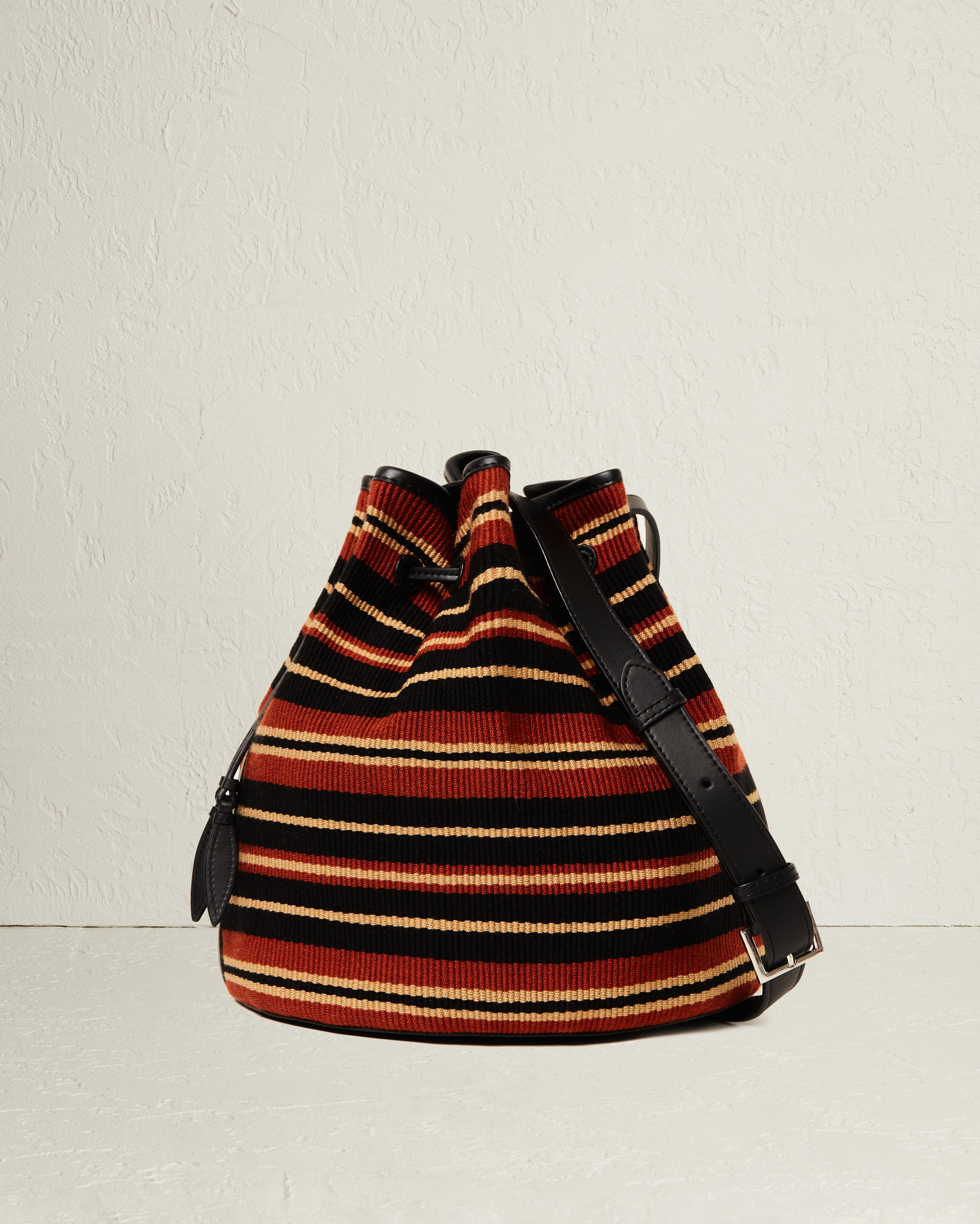 The Extra Large Drawstring in Cotton Stripe