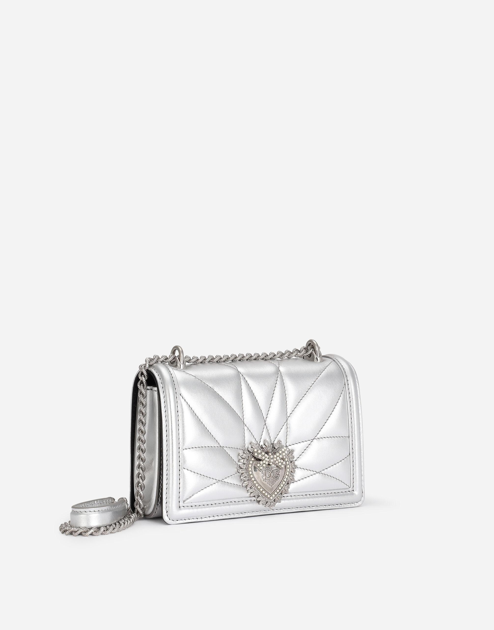 Small Devotion crossbody bag in quilted nappa mordore leather 1