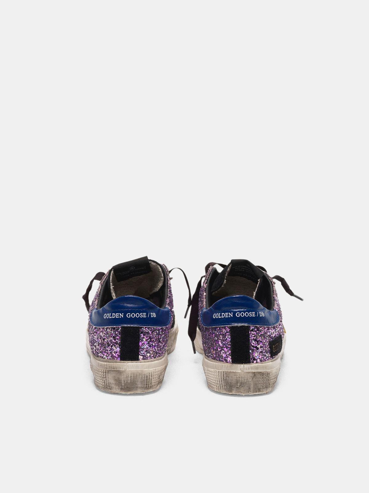 May sneakers in glitter and suede leather 1
