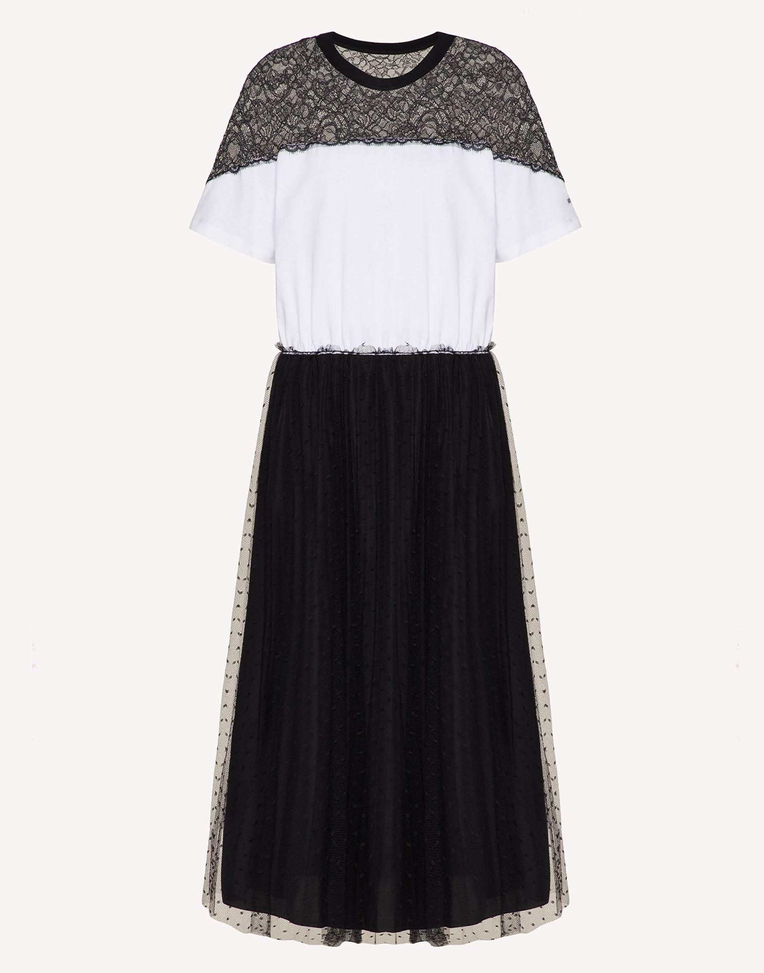JERSEY DRESS WITH POINT D'ESPRIT TULLE AND LACE 4