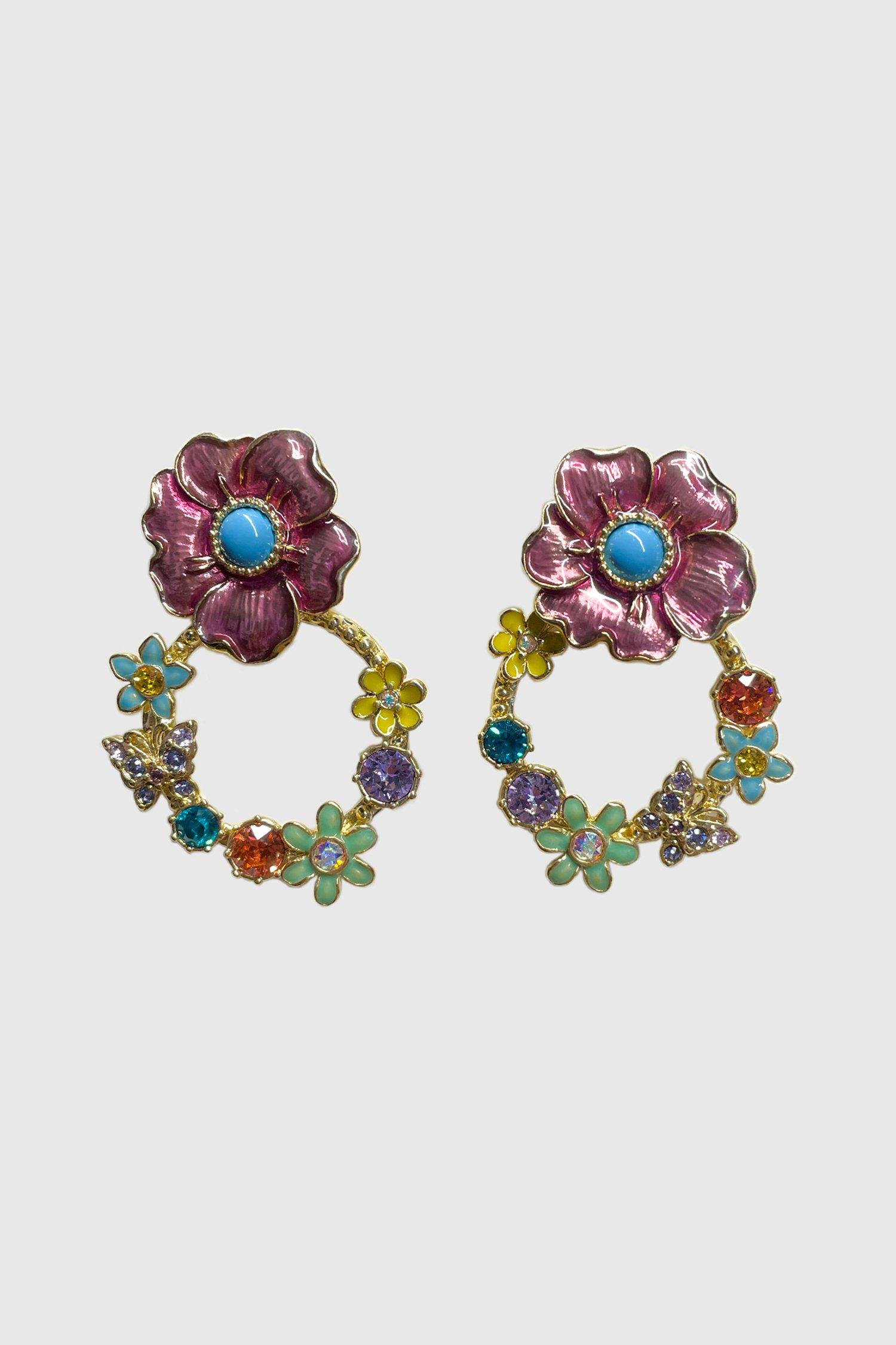 Ring Around the Roses Post Earrings