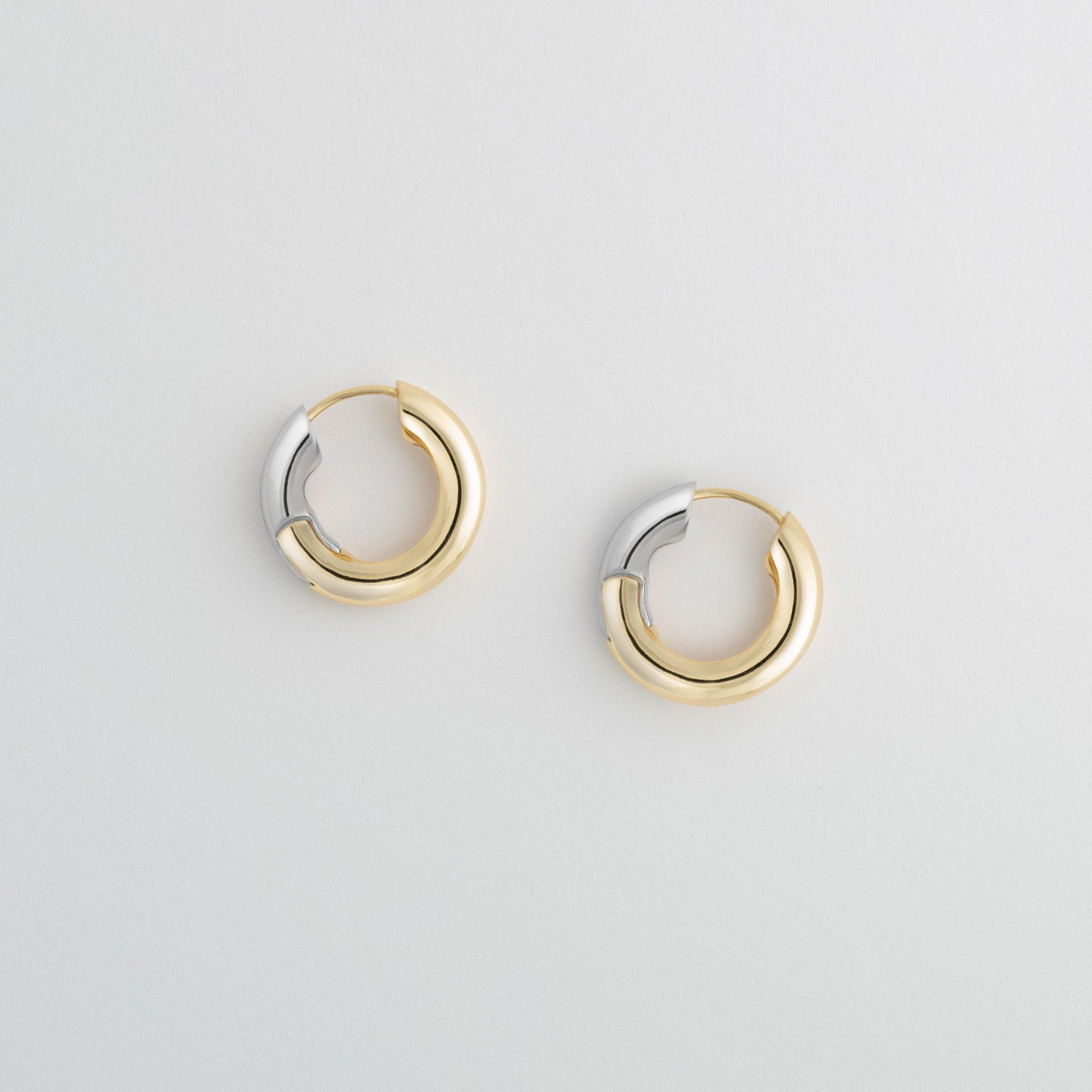Chunky Hoops in 3/4 Gold