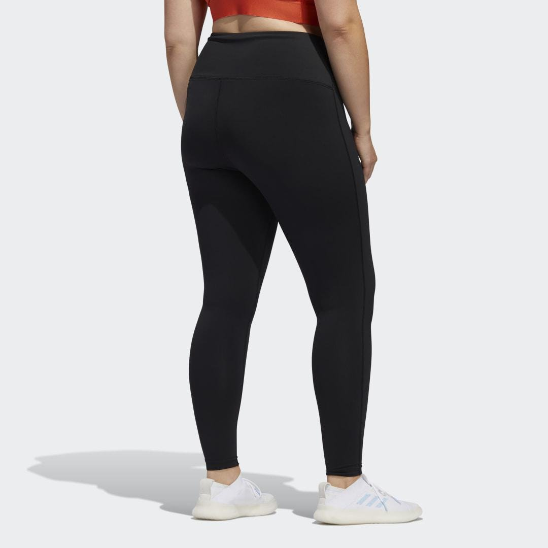 Believe This Solid 7/8 Tights (Plus Size) Black 1