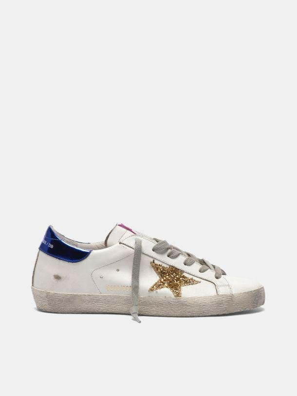 Super-Star sneakers in leather with glitter star