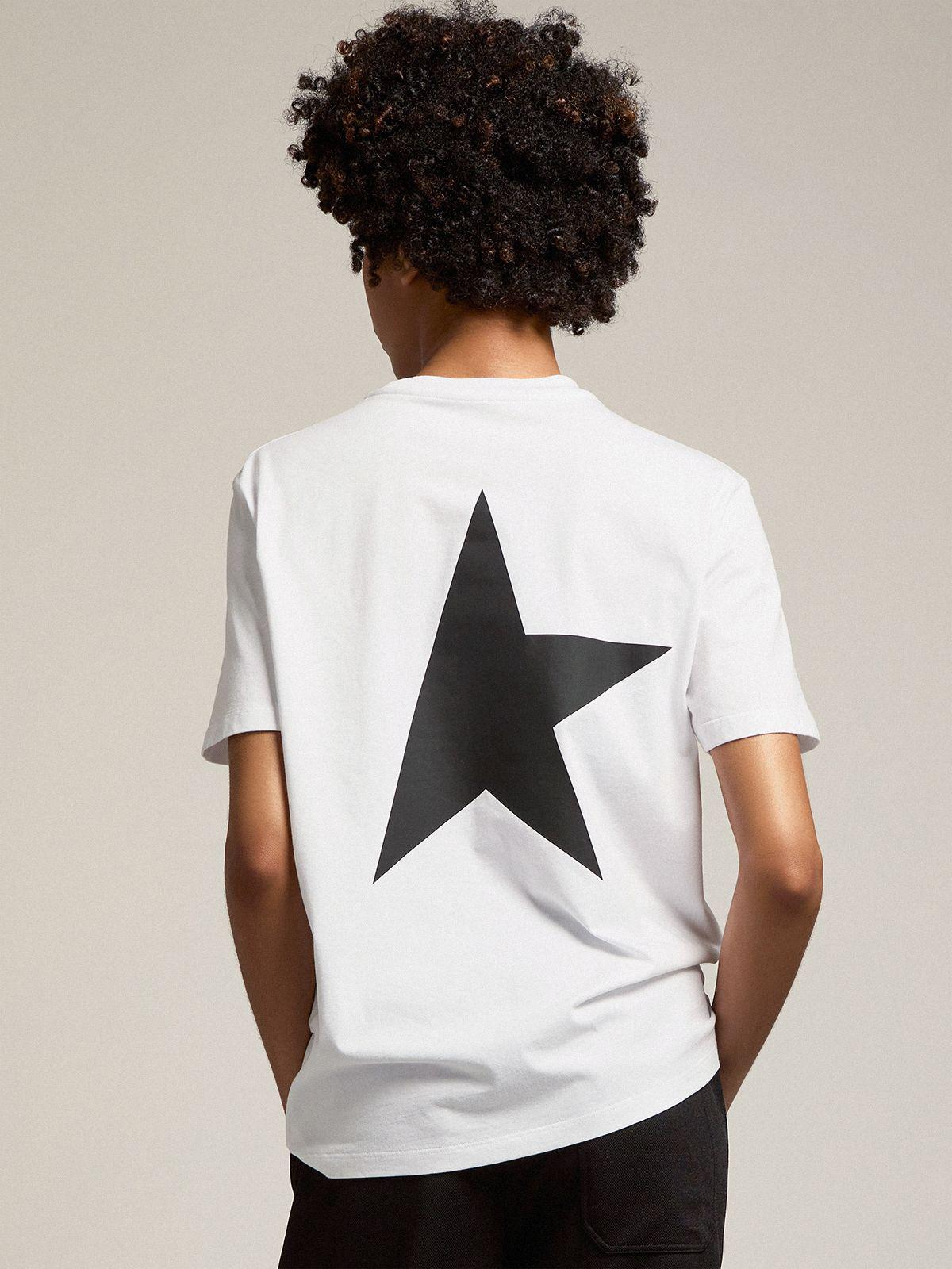 White Star Collection T-shirt with contrasting black logo and star 3