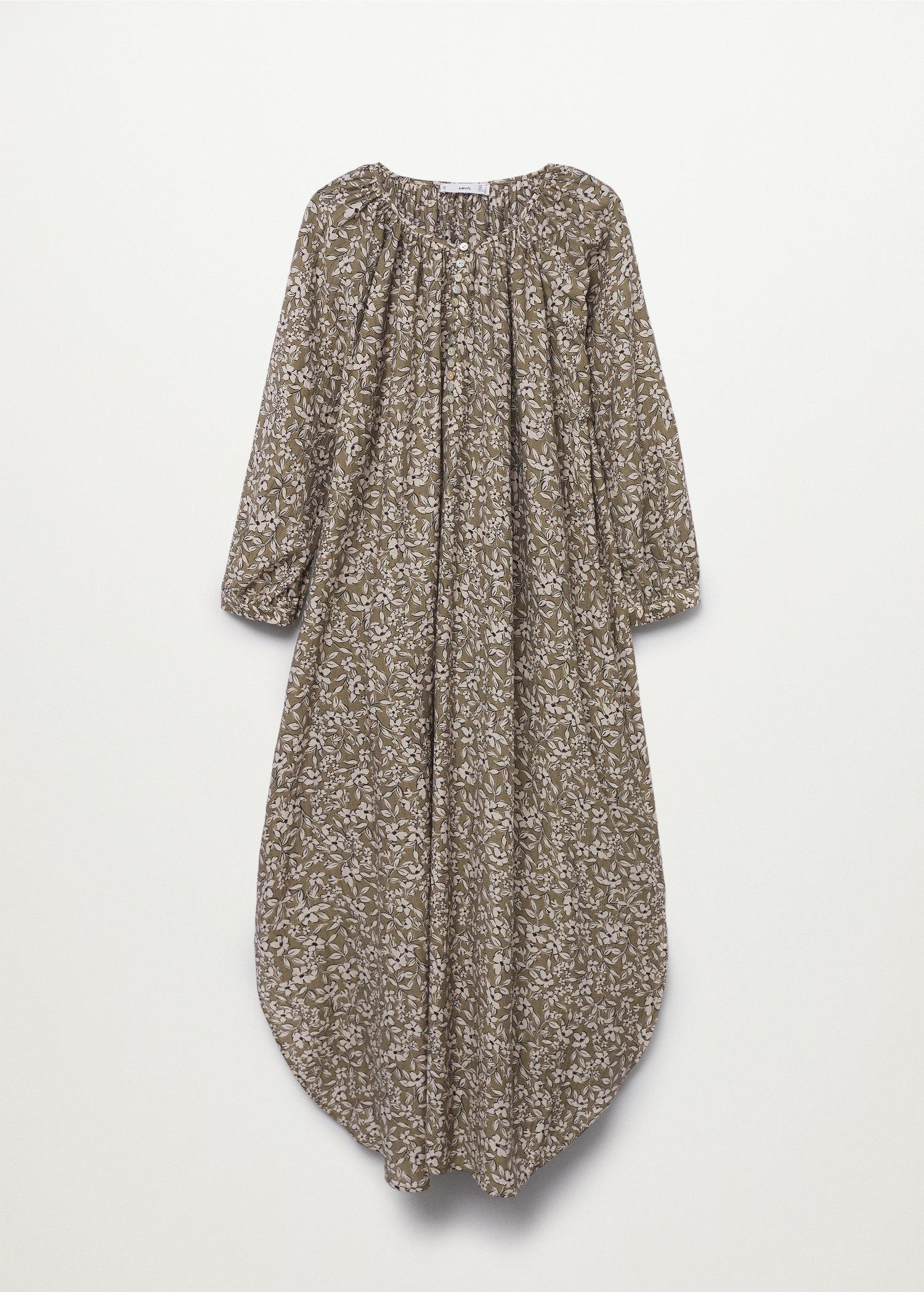 Buttoned printed dress 6