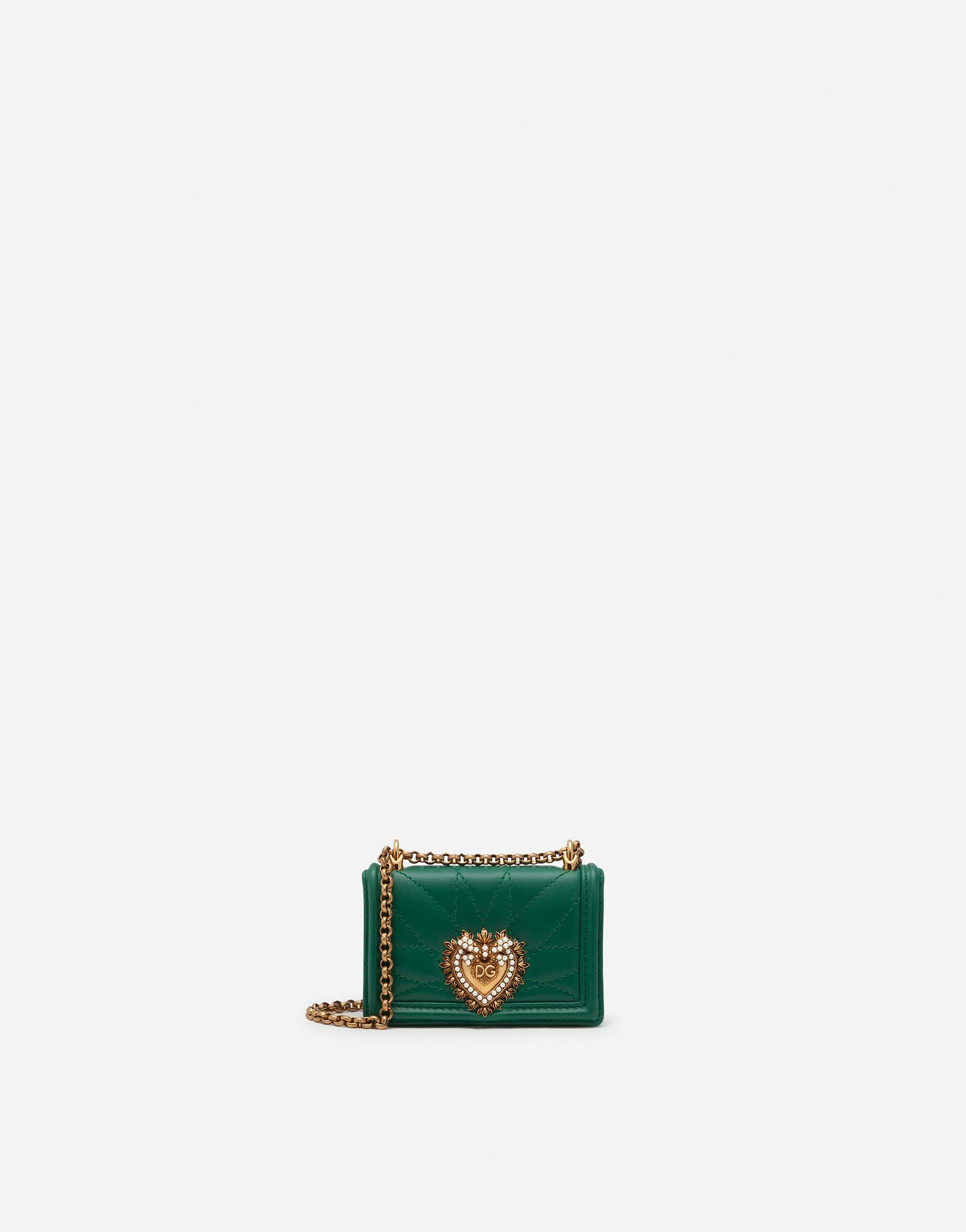 Devotion micro bag in quilted nappa leather