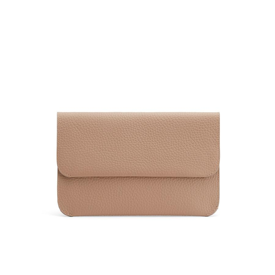 Women's System Flap Bag in Cappuccino | Pebbled Leather by Cuyana