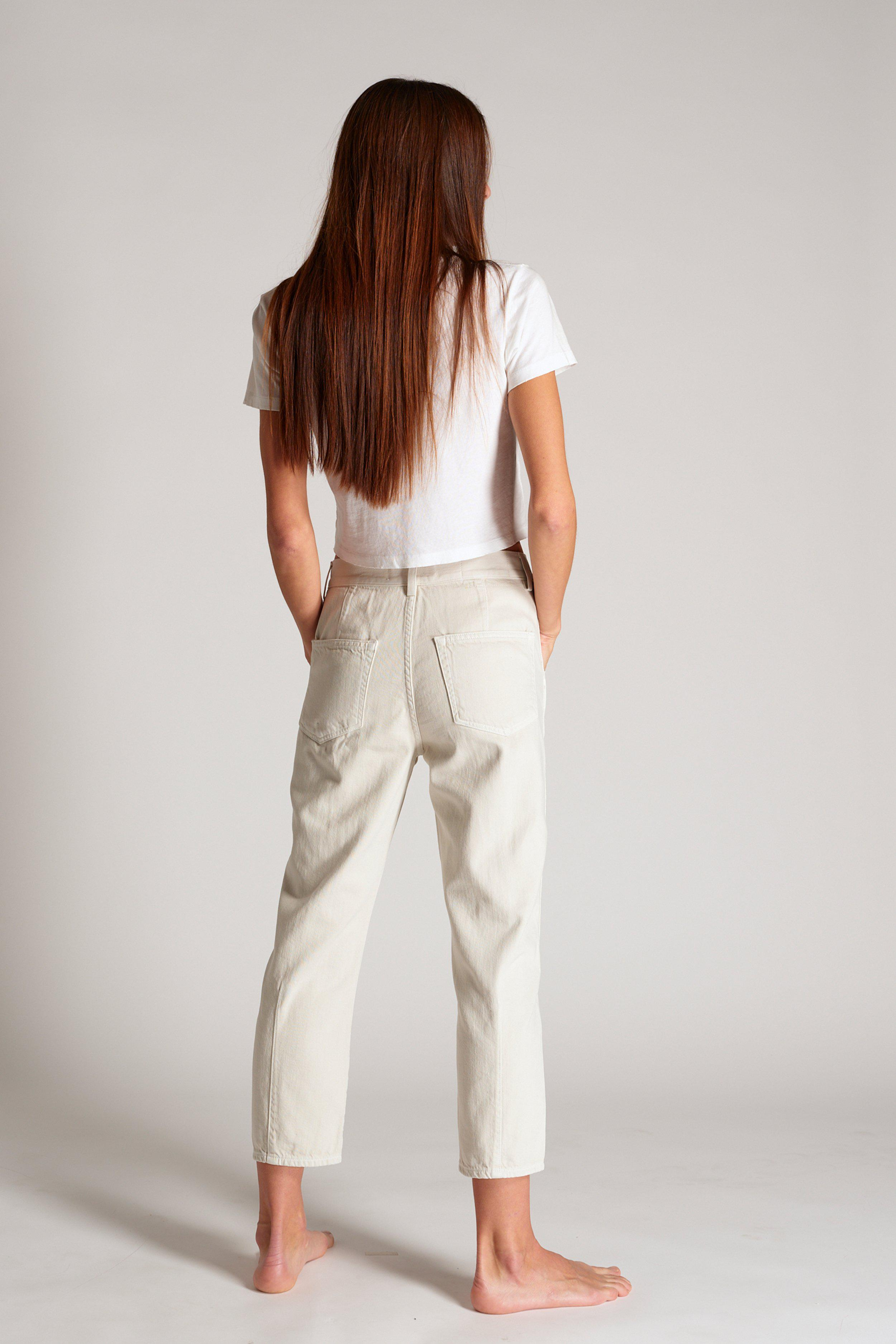 PLEATED SLOUCH TROUSER VINTAGE WHITE 2