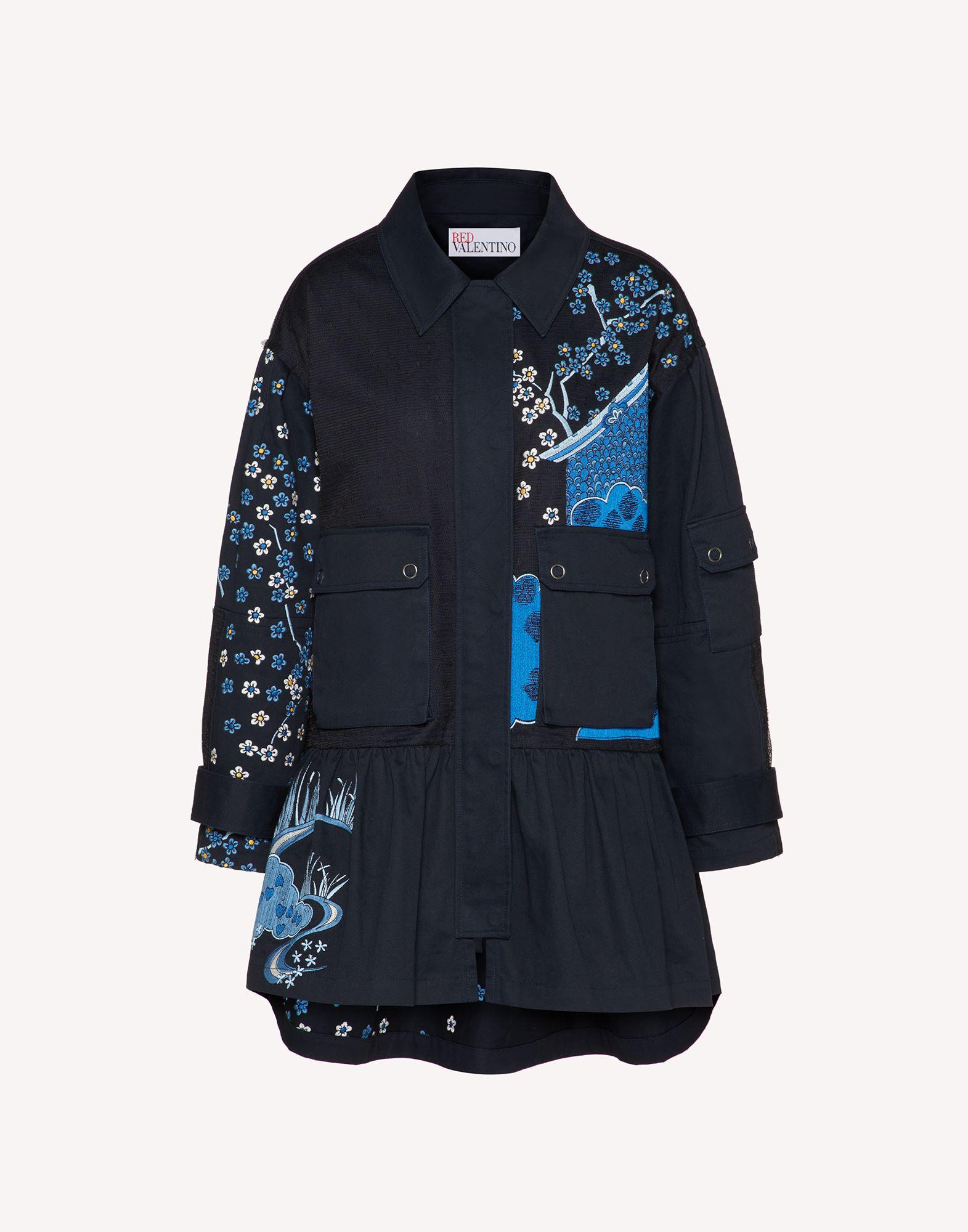 ASIAN TOILE DE JOUY EMBROIDERED PEA COAT 4