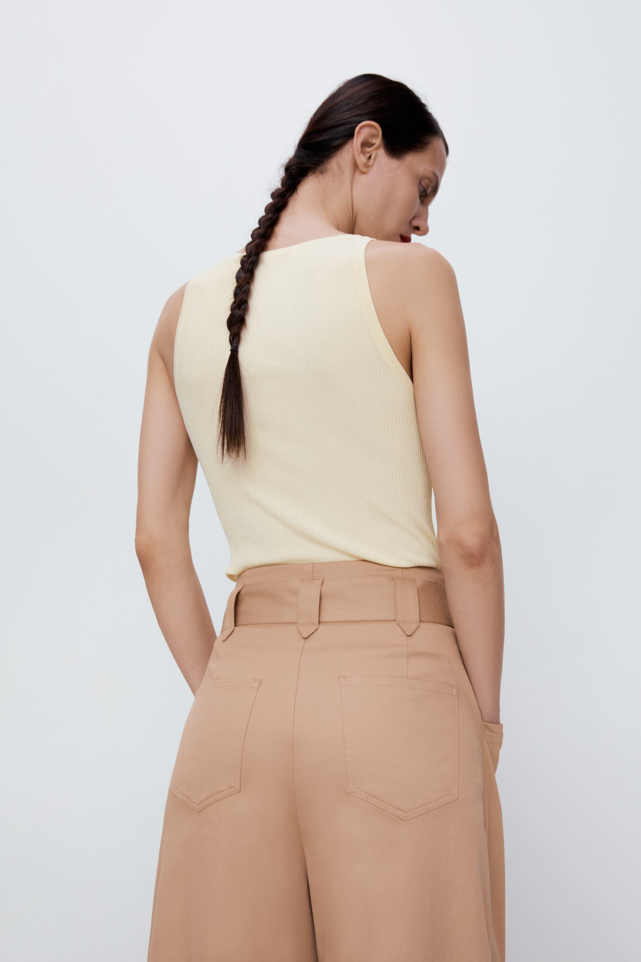 WIDE LEG BELTED PANTS 5