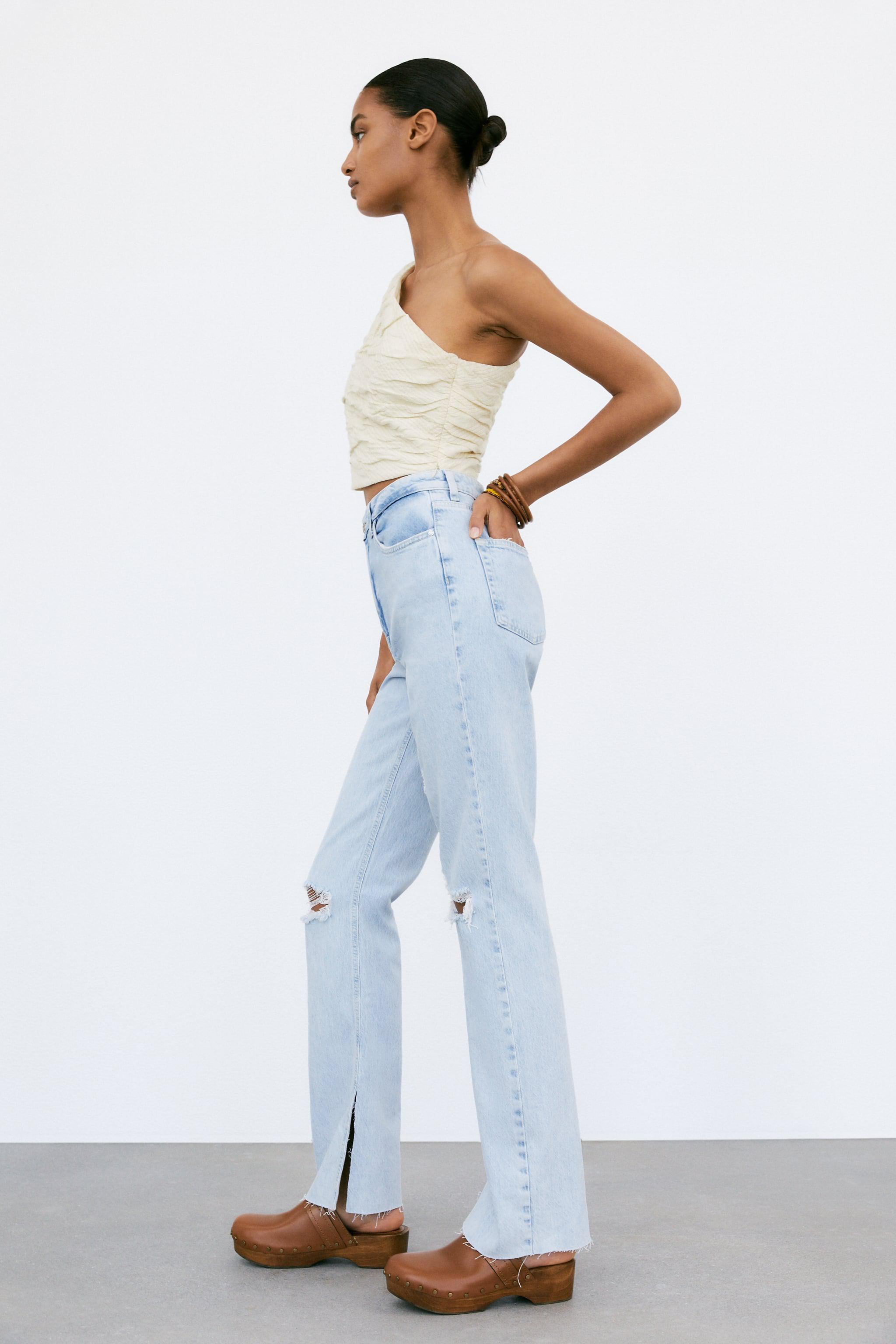 Z1975 FLARED RIPPED SLIM FIT JEANS 2