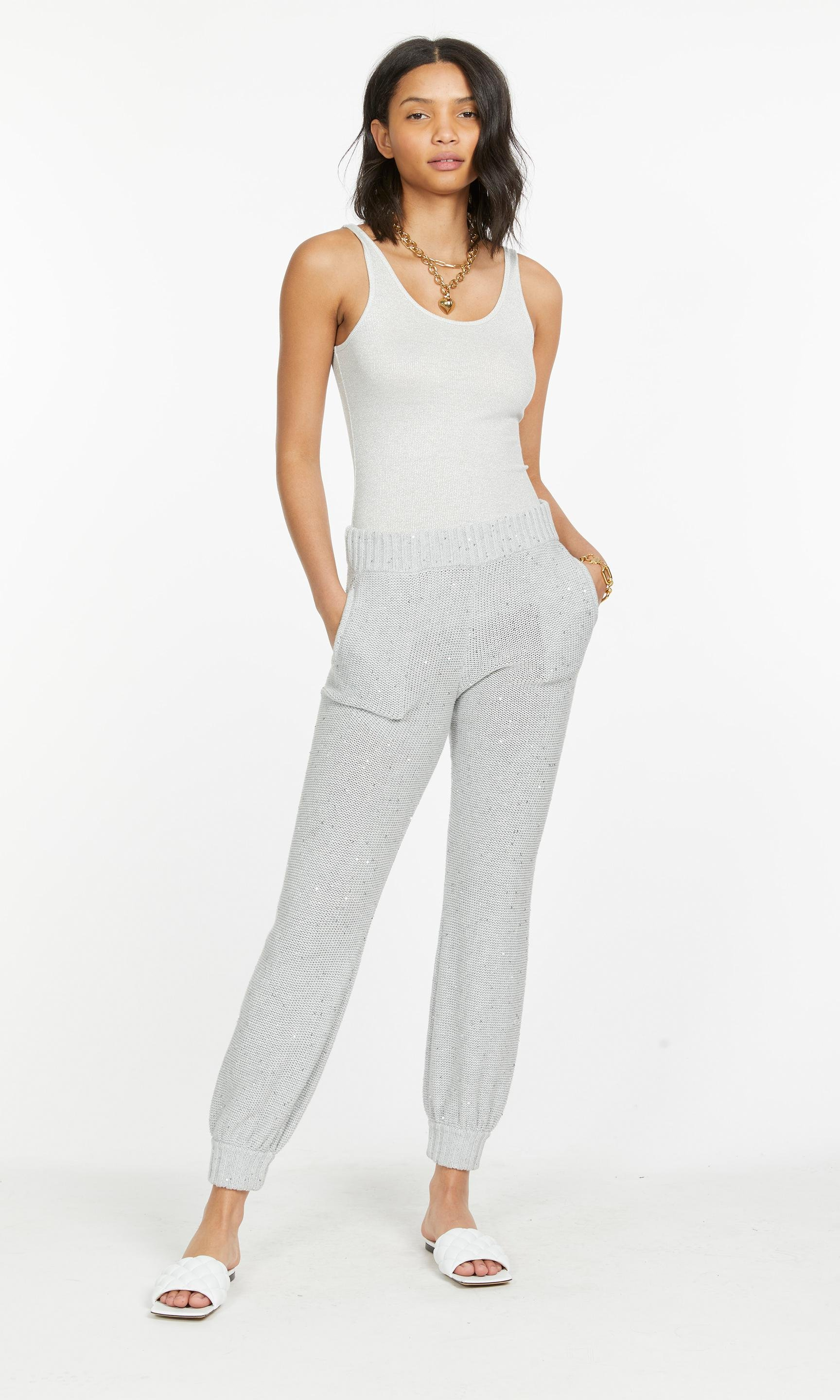 Diana Sequin Knitted Jogger
