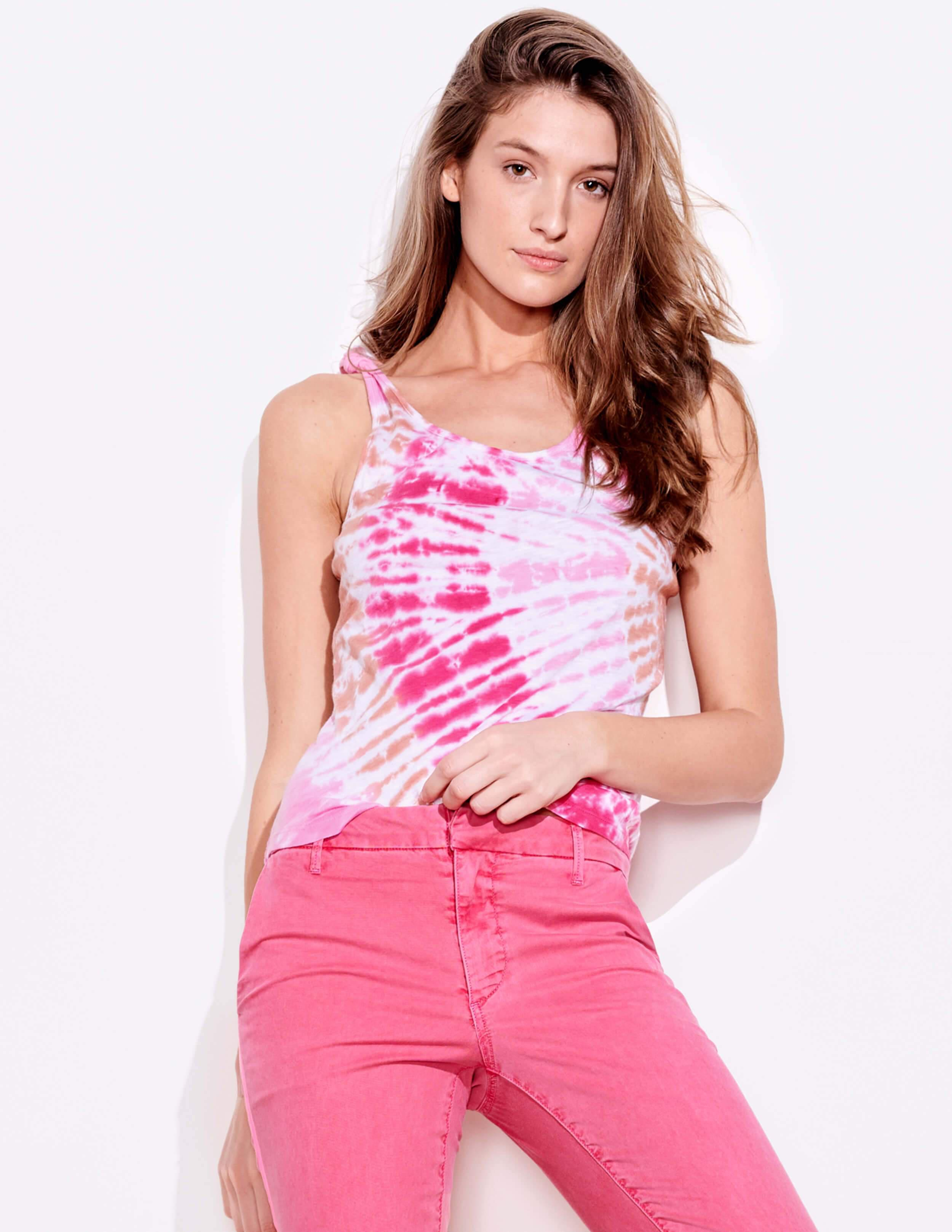 Tie Dye Knotted Straps Tank