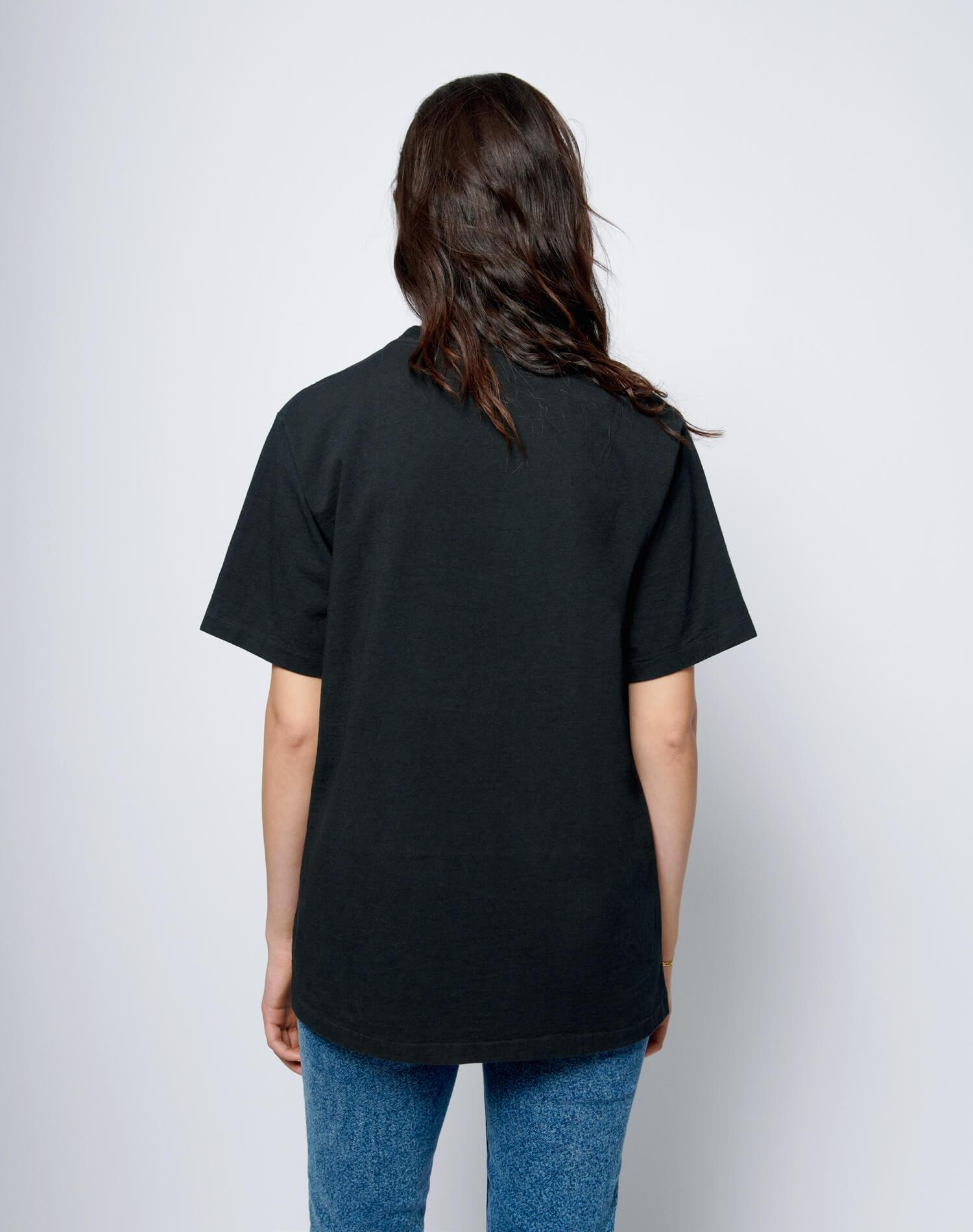 """80s Oversized """"The Cheetah"""" Tee - Washed Black 4"""