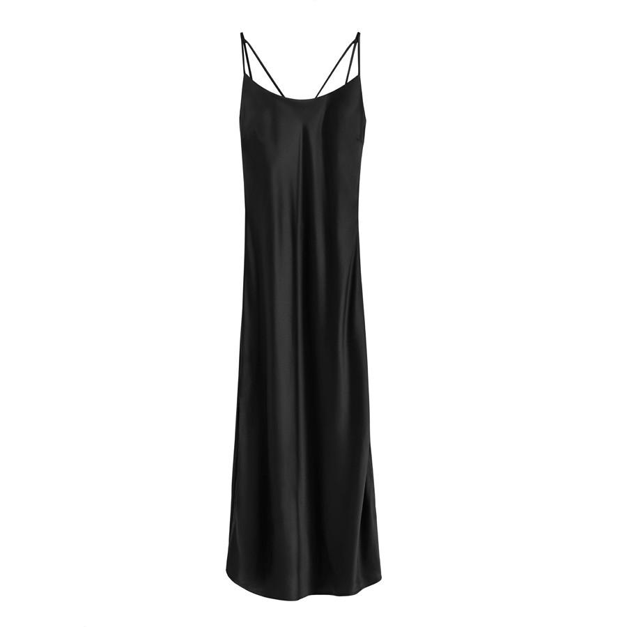Women's Charmeuse Slip Dress in Black | Size: Large | Silk Charmeuse by Cuyana