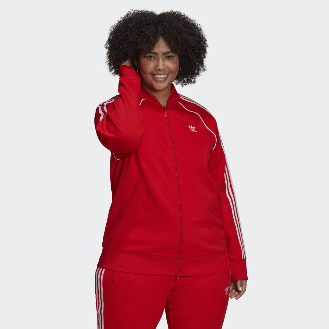 Primeblue SST Track Top (Plus Size) Red
