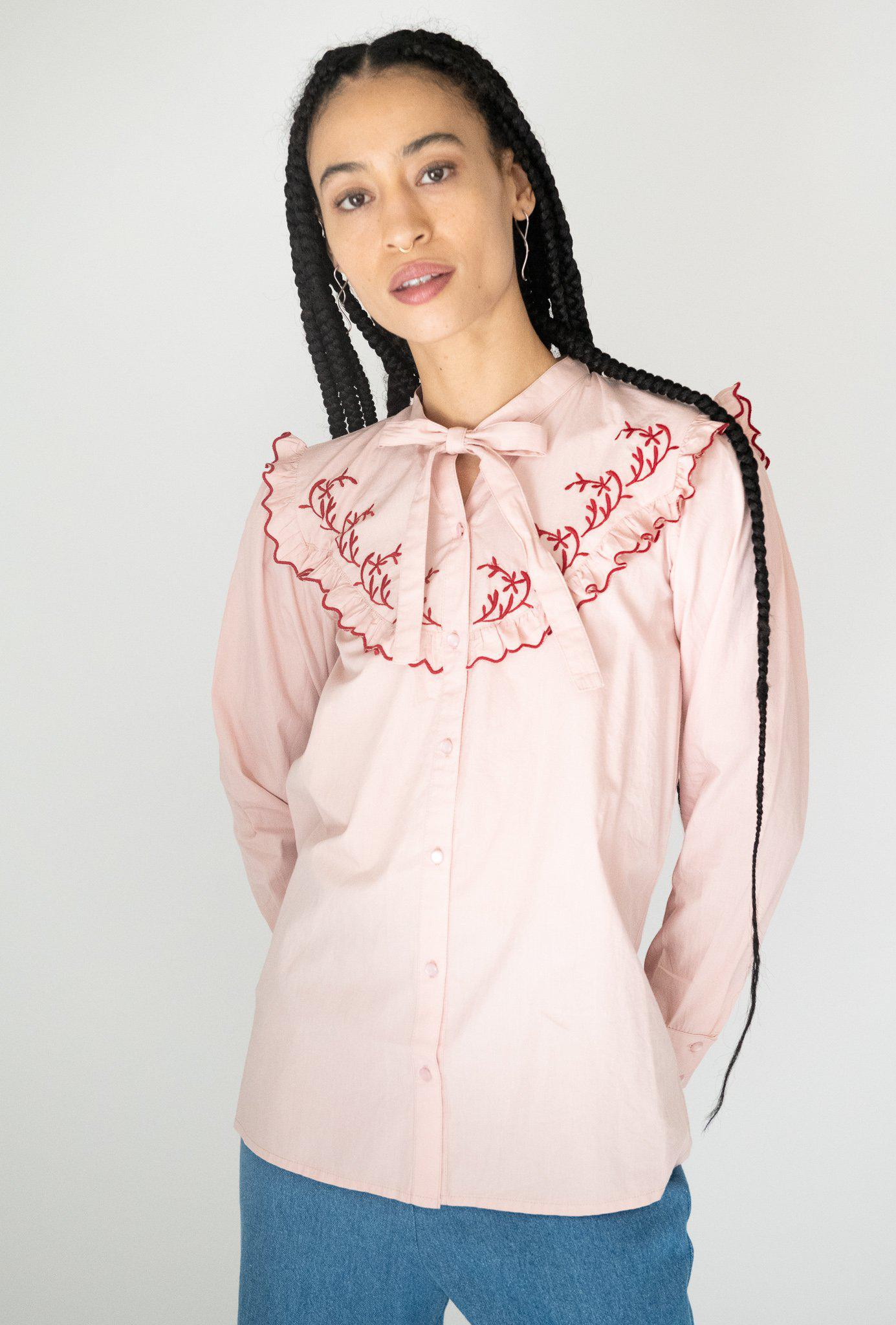 Lena Blouse in Pink