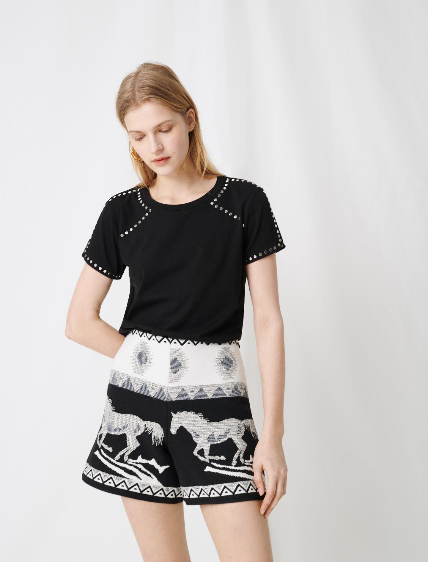 ROCK 'N' ROLL T-SHIRT WITH STUDS