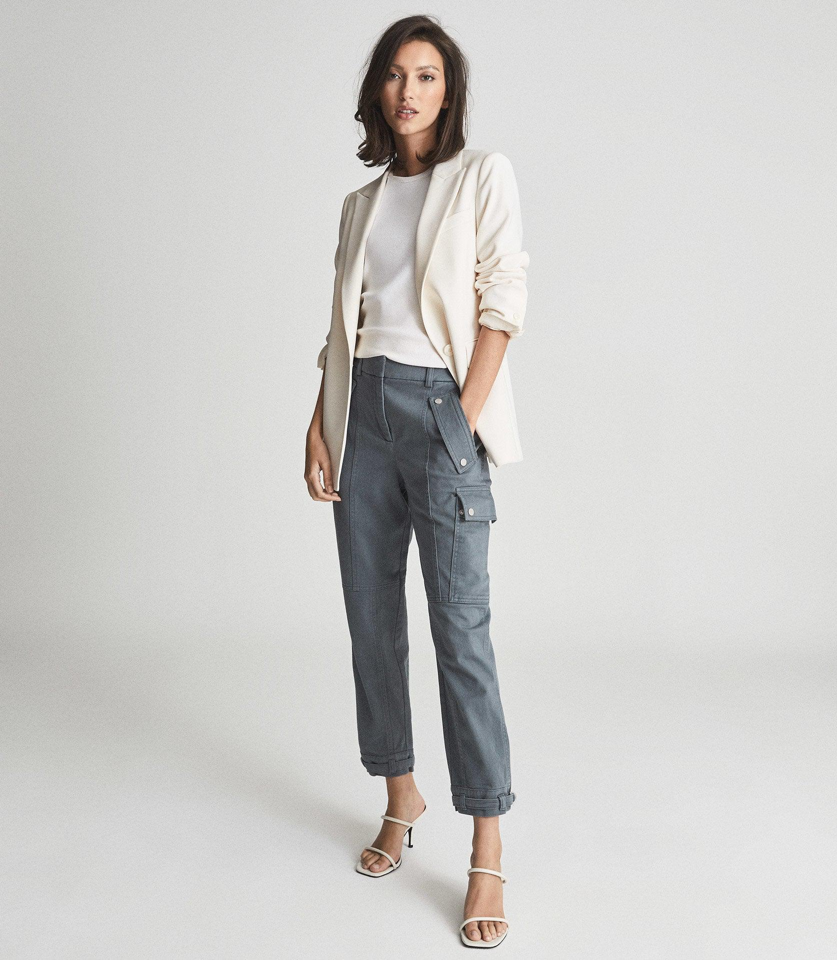 TATE - COTTON BLEND CARGO TROUSERS