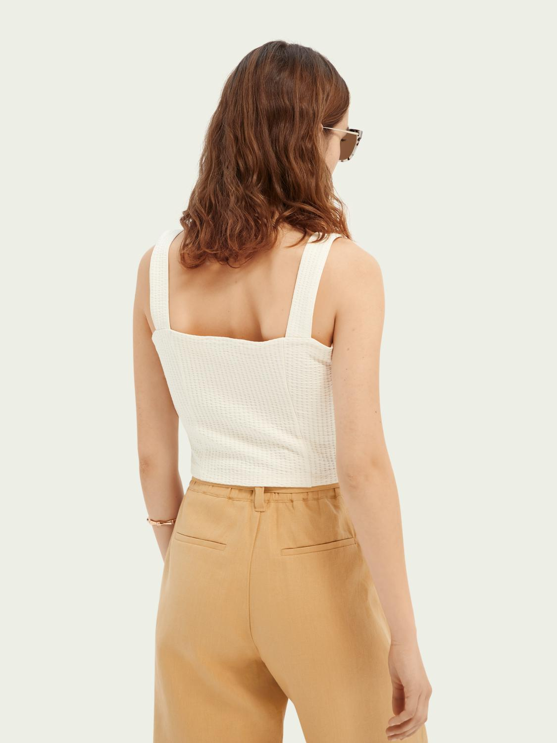 Cropped ribbed top 2