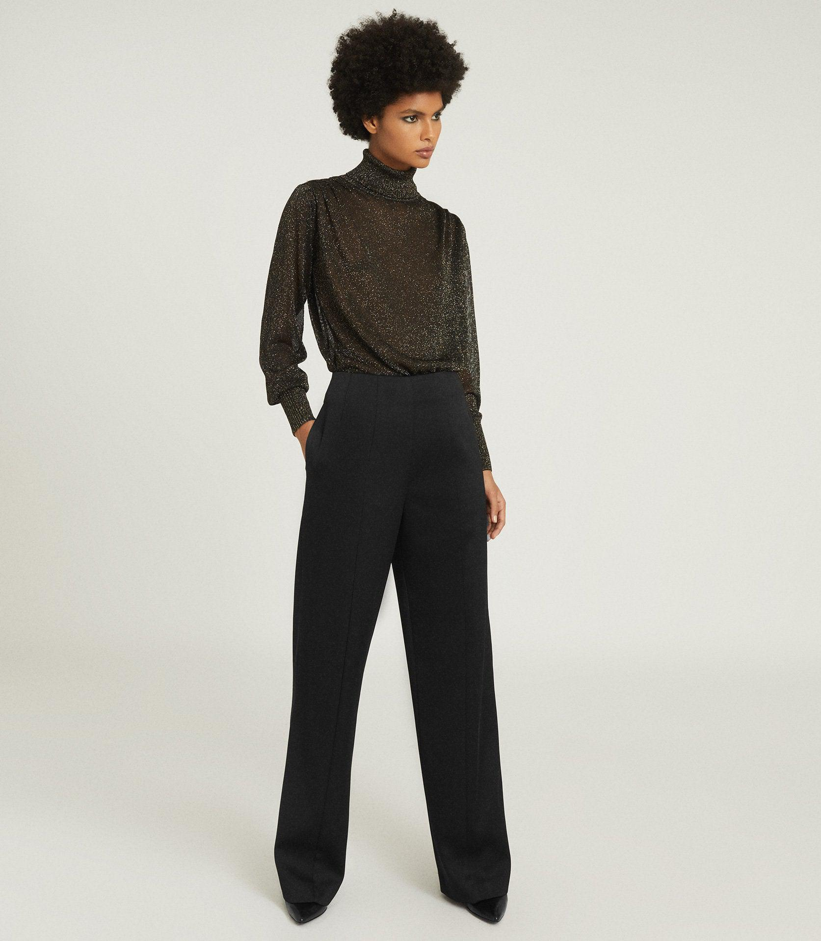 LUISA - WIDE LEG TAILORED TROUSERS
