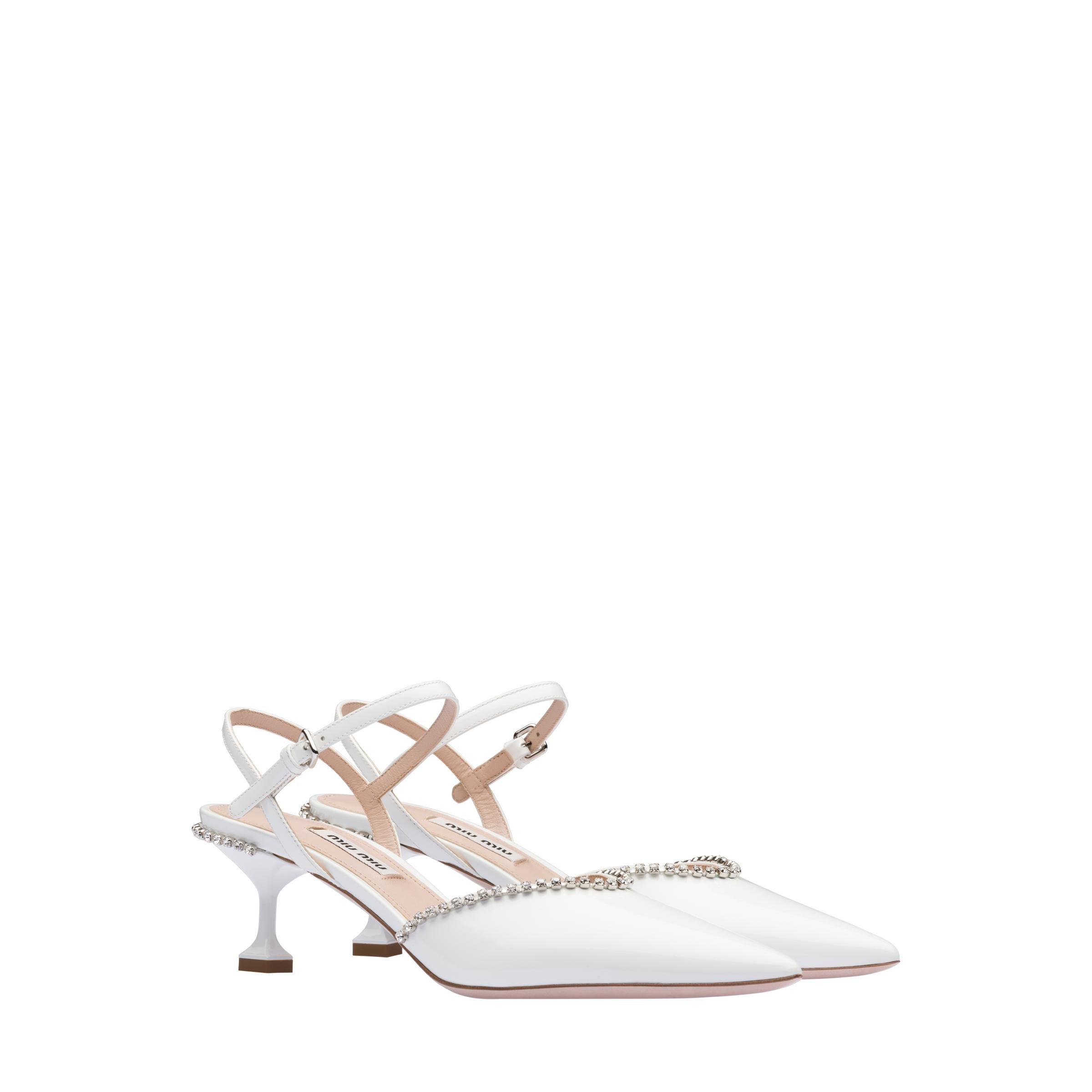 Patent Leather Pumps Women White