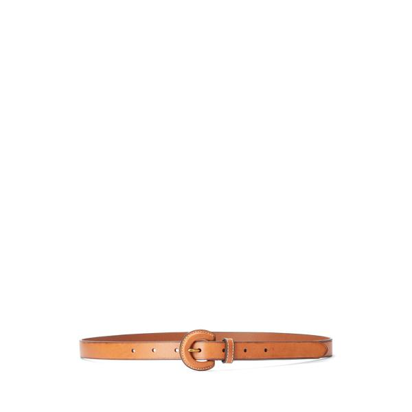 Leather-Buckle Belt