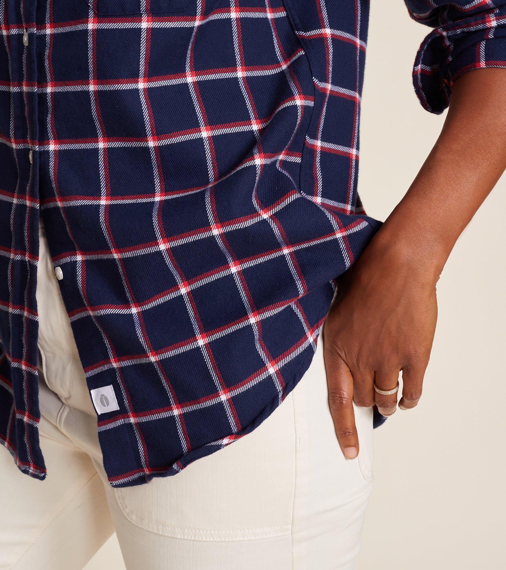 The Hero Navy with Red and White Plaid, Plush Flannel Final Sale 3