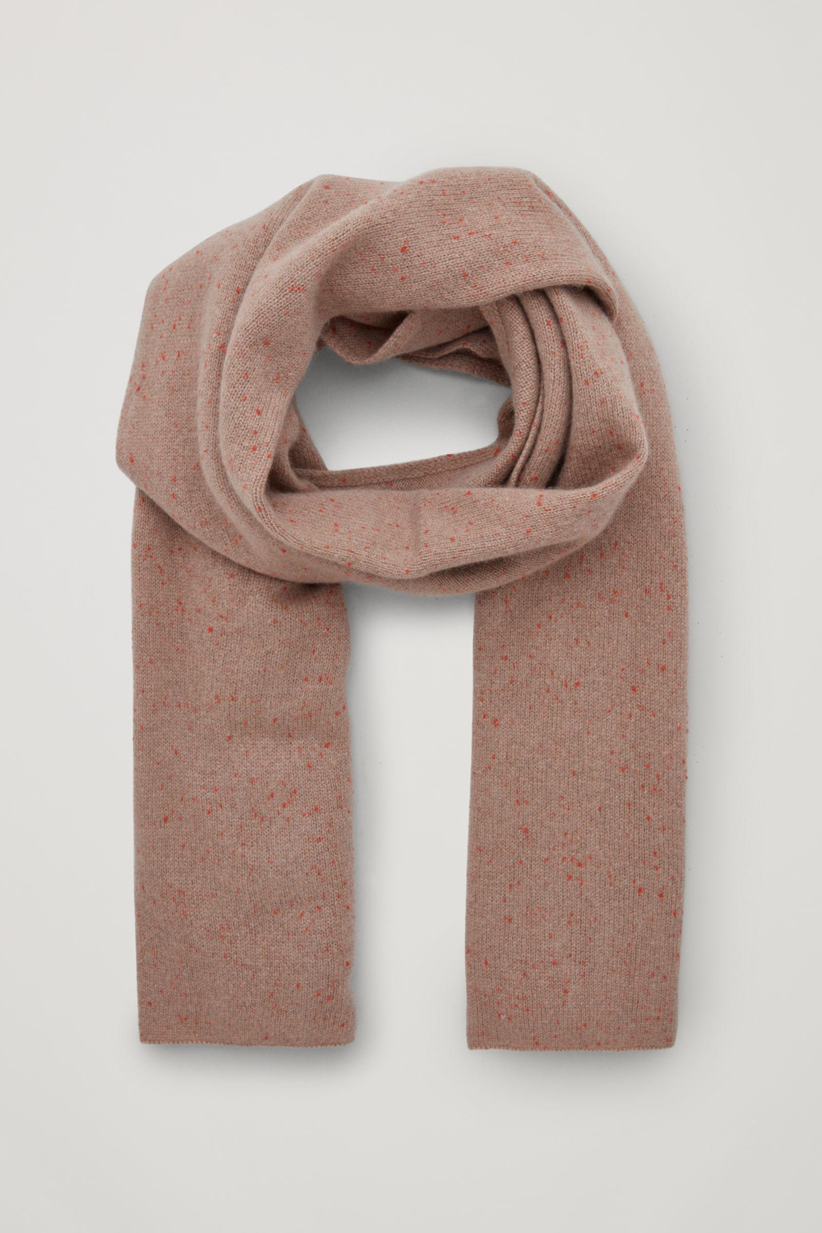 UNISEX SPECKLED CASHMERE SCARF