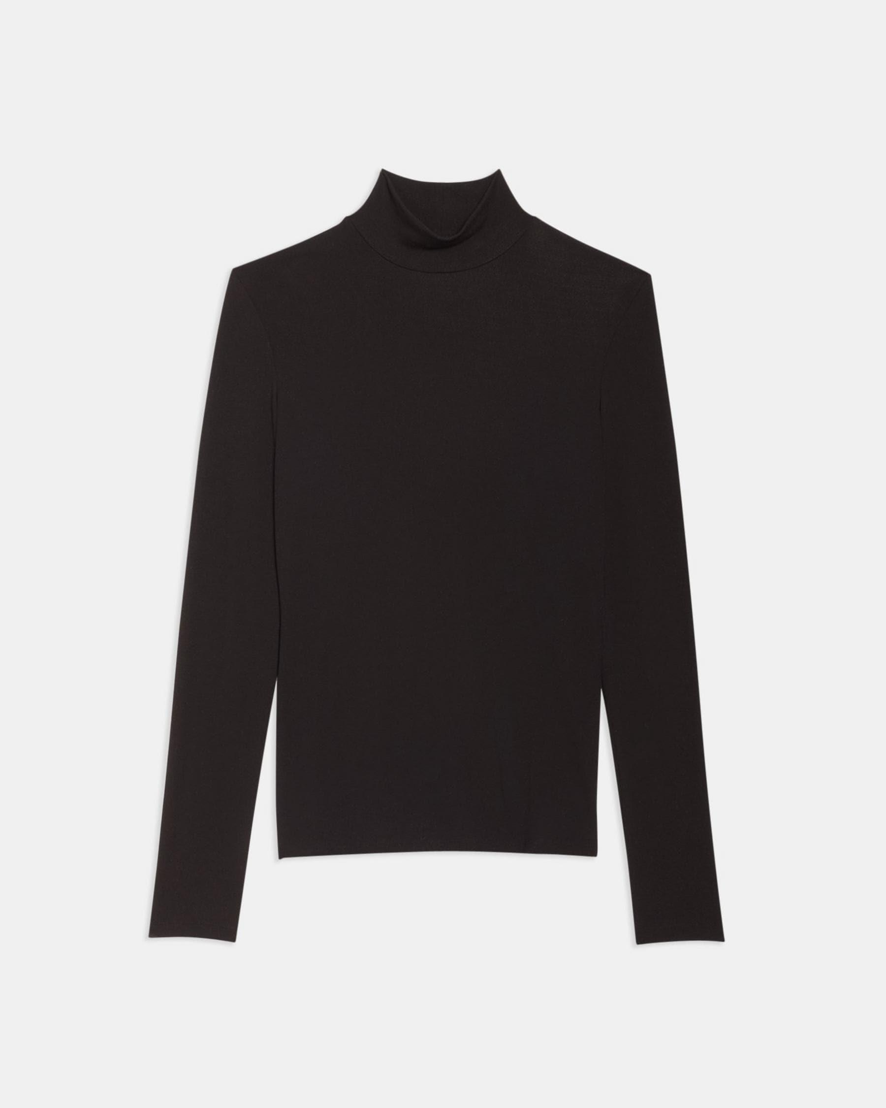 Turtleneck Sweater in Ribbed Viscose 4