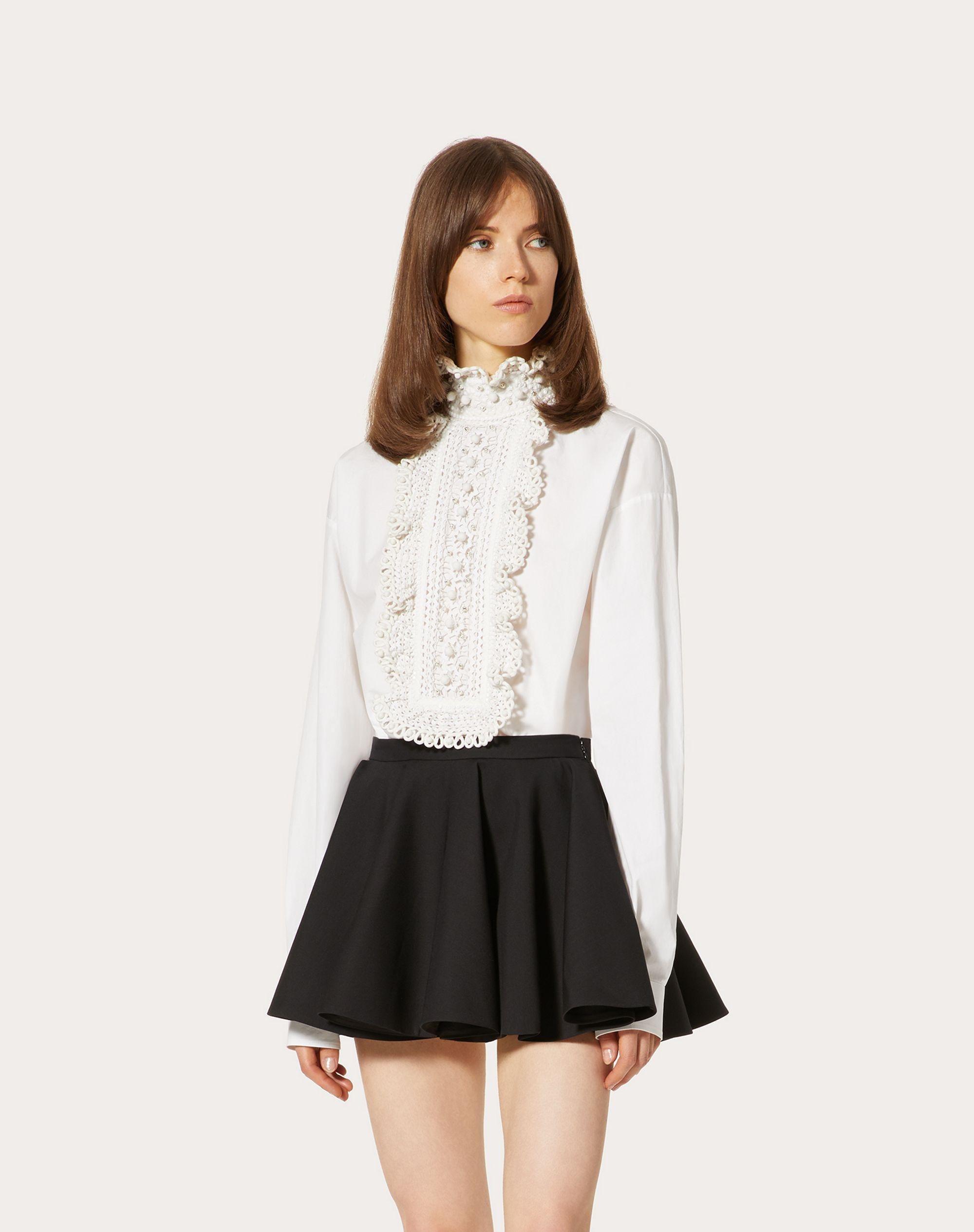 EMBROIDERED COTTON POPLIN TOP 1