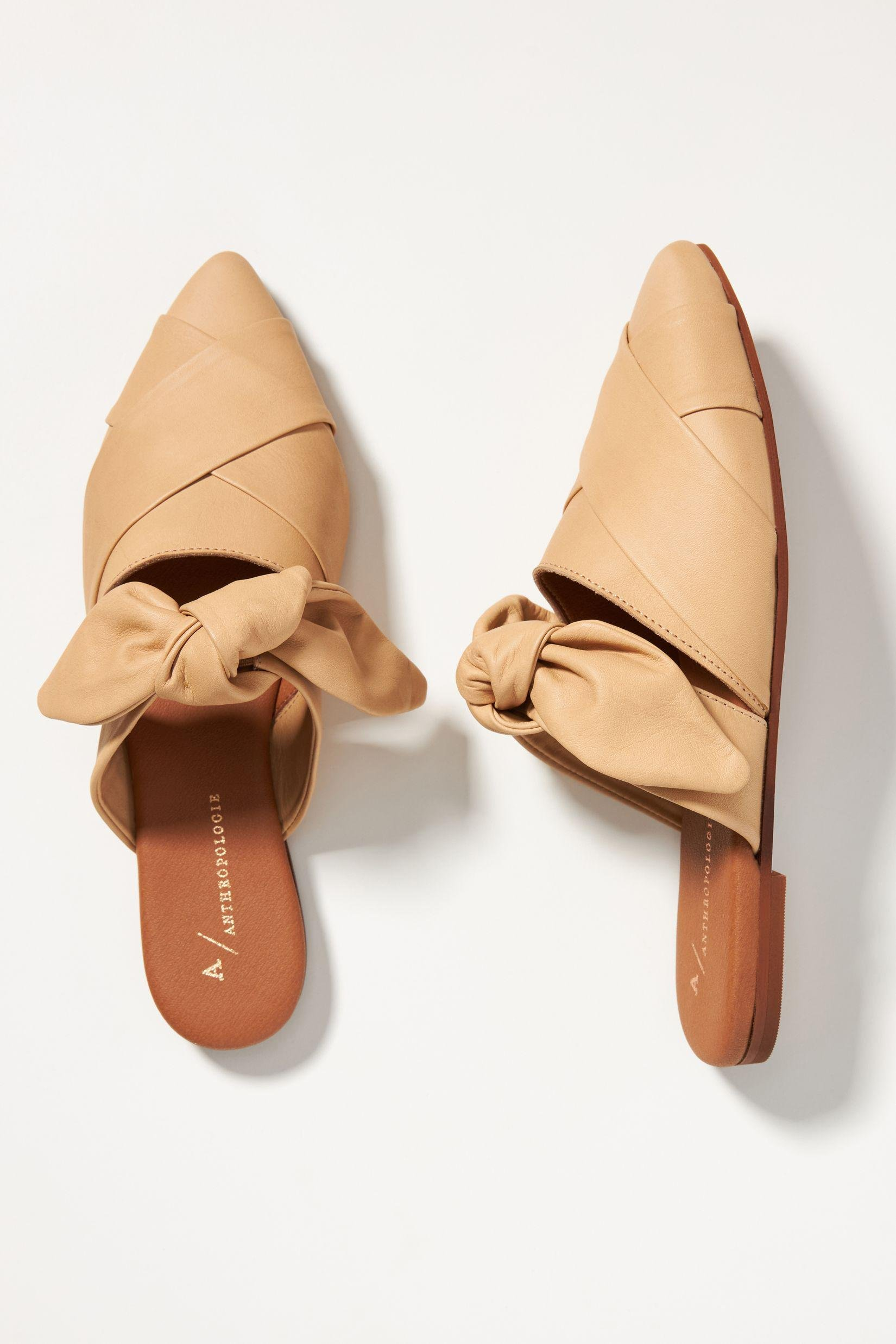 Woven Bow Mules