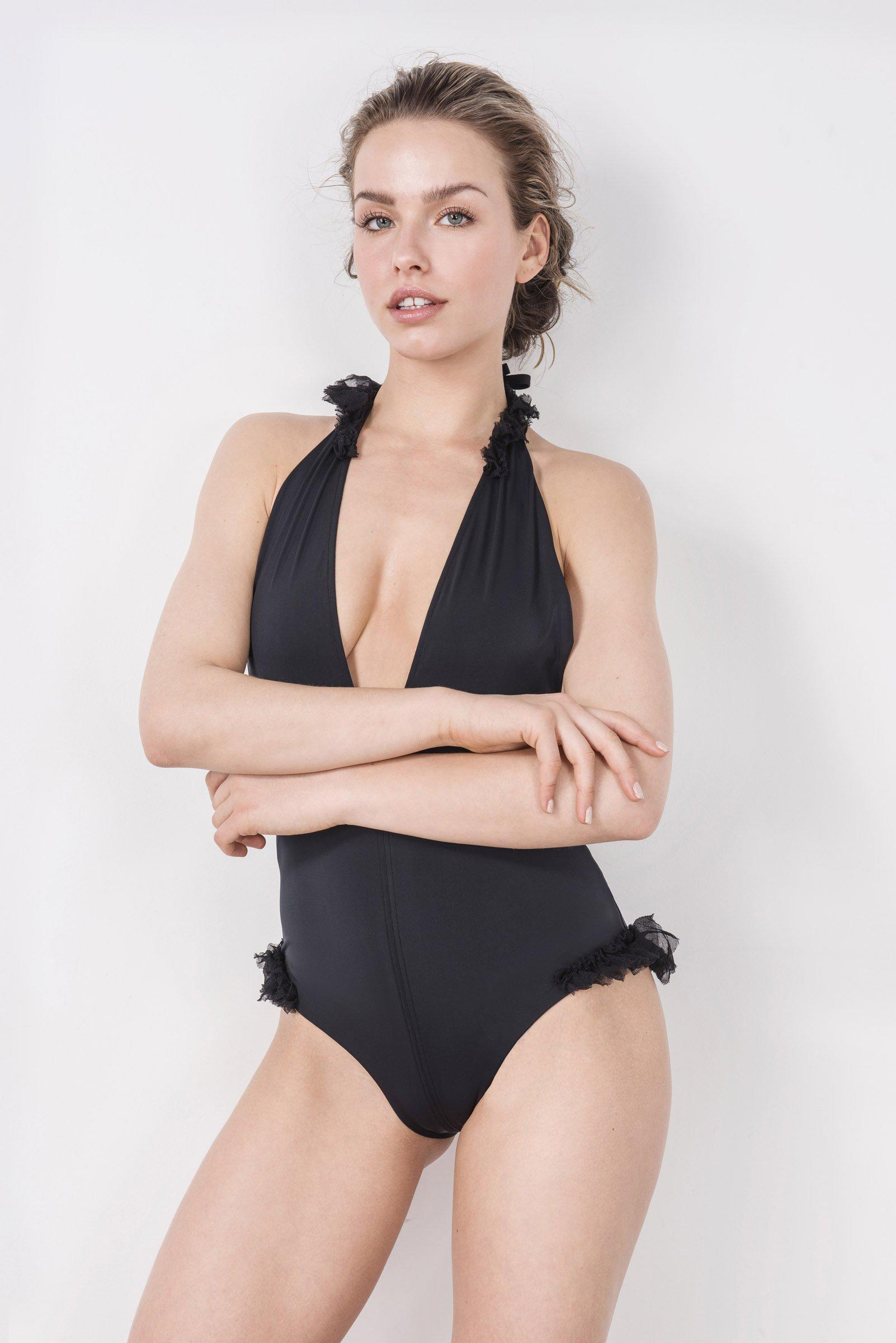 Silky Wings Plunge One-Piece