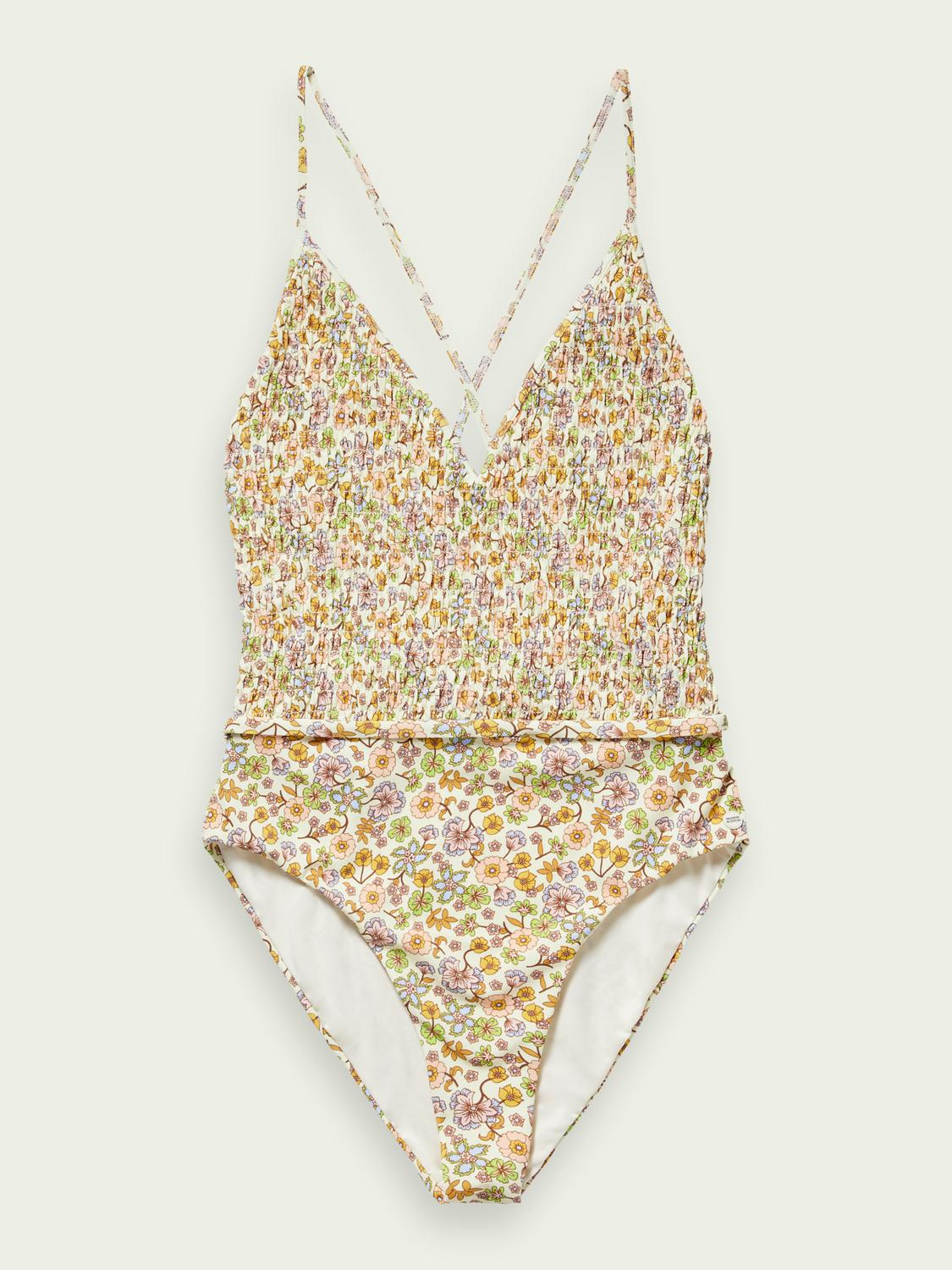 Smock detailed swimsuit