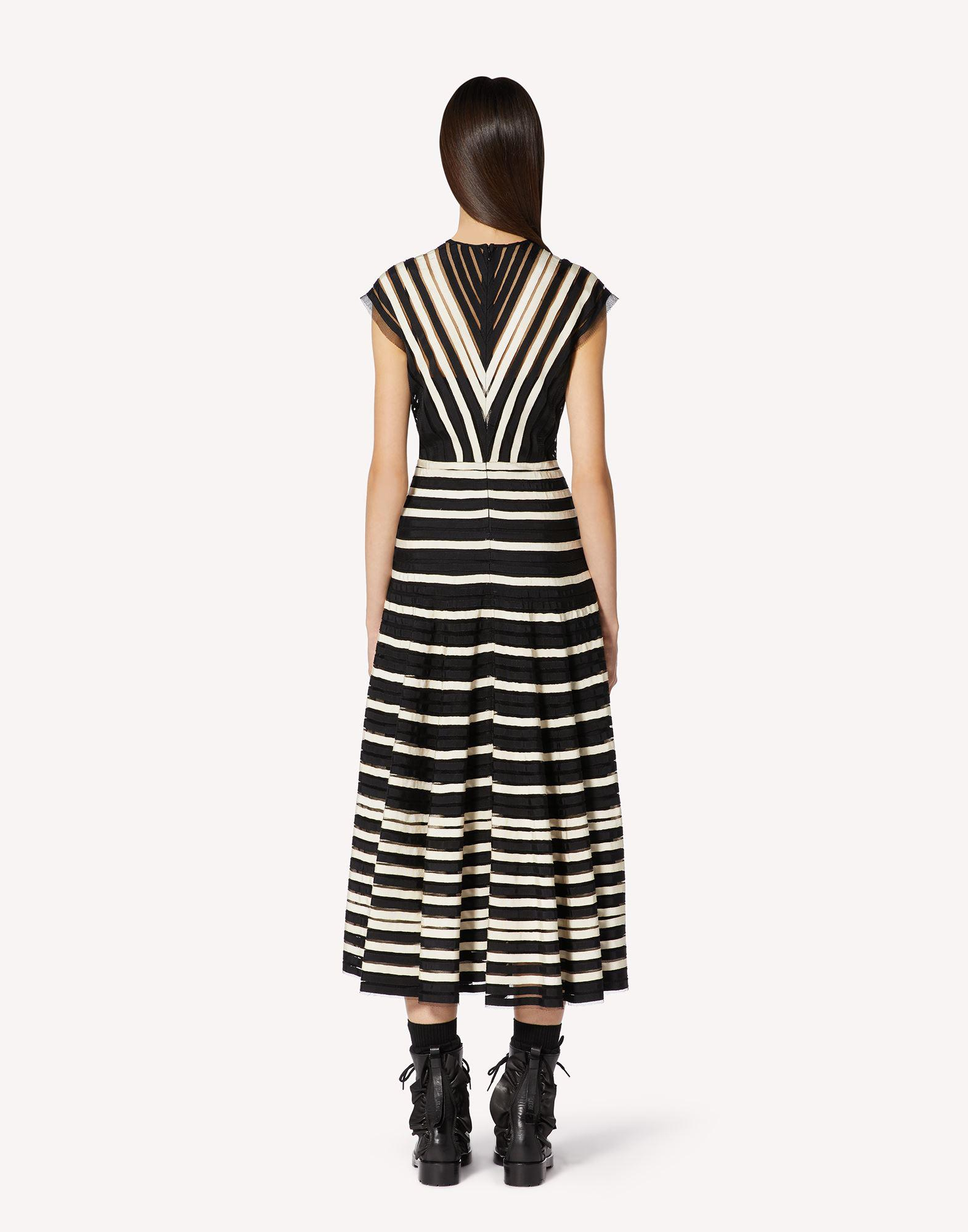 POINT D'ESPRIT TULLE DRESS WITH GROSGRAIN RIBBONS 1