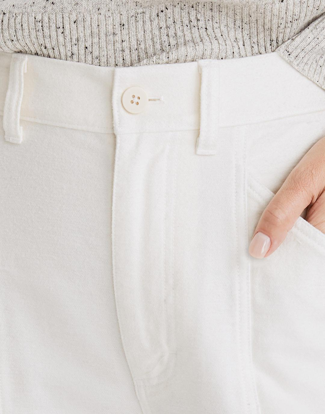 Moleskin High-Rise Seamed Tapered Pants 3