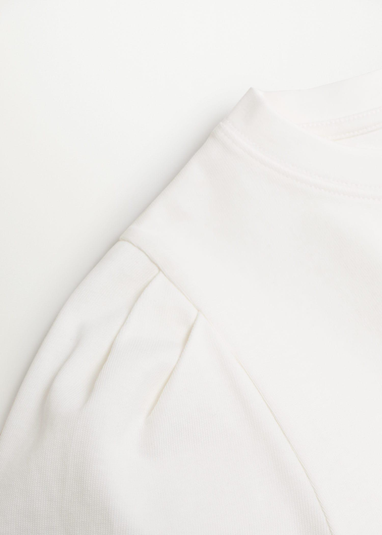 Cotton t-shirt with puffed sleeves 6