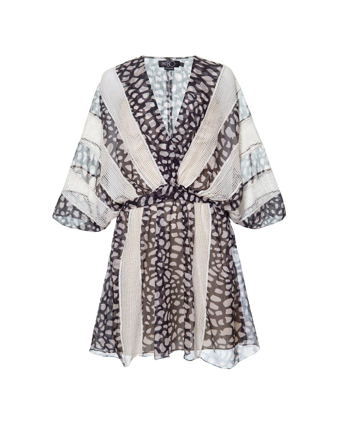 SPOTTED LACE TRIM COVERUP 1