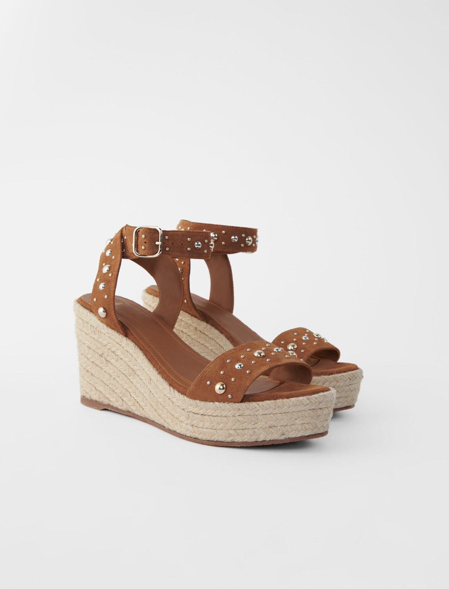 WEDGE SANDALS WITH SUEDE STRAPS 1