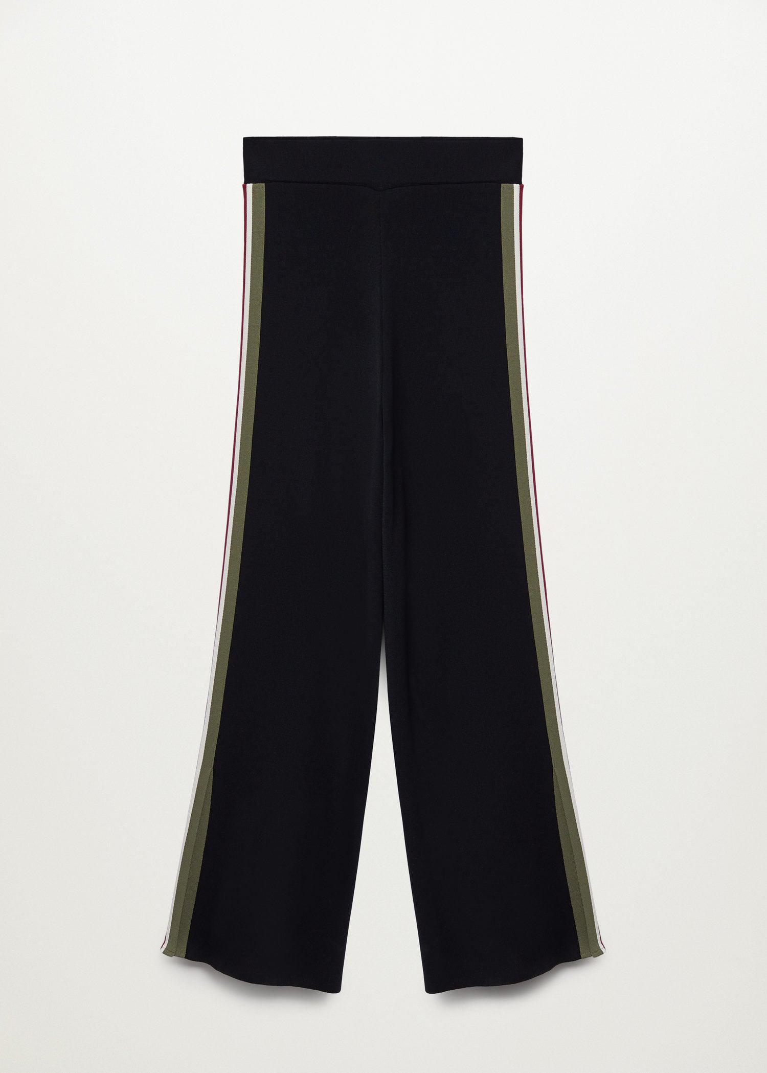 Contrasting bands knit trousers 6