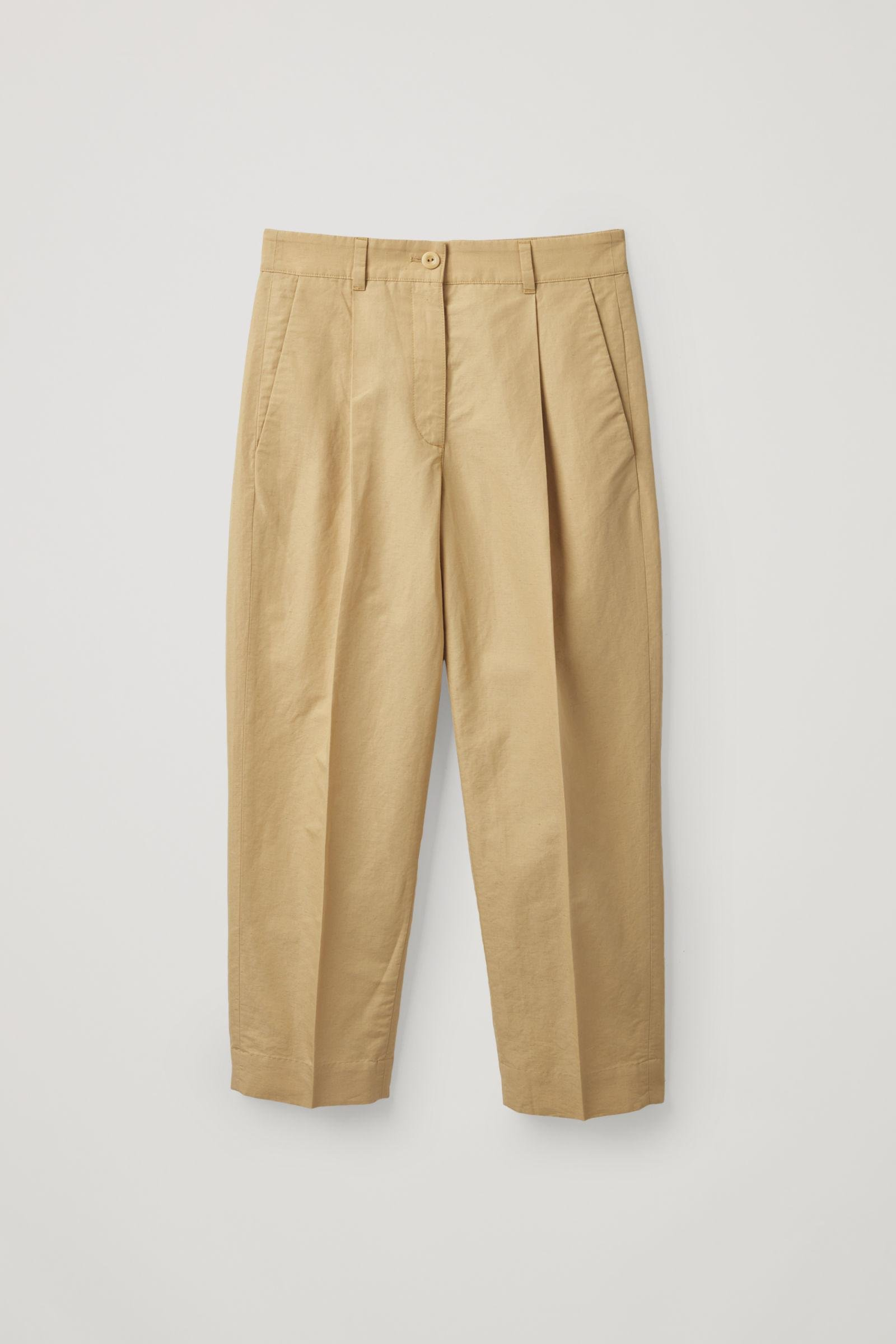 COTTON-LINEN PANTS WITH PRESSFOLDS