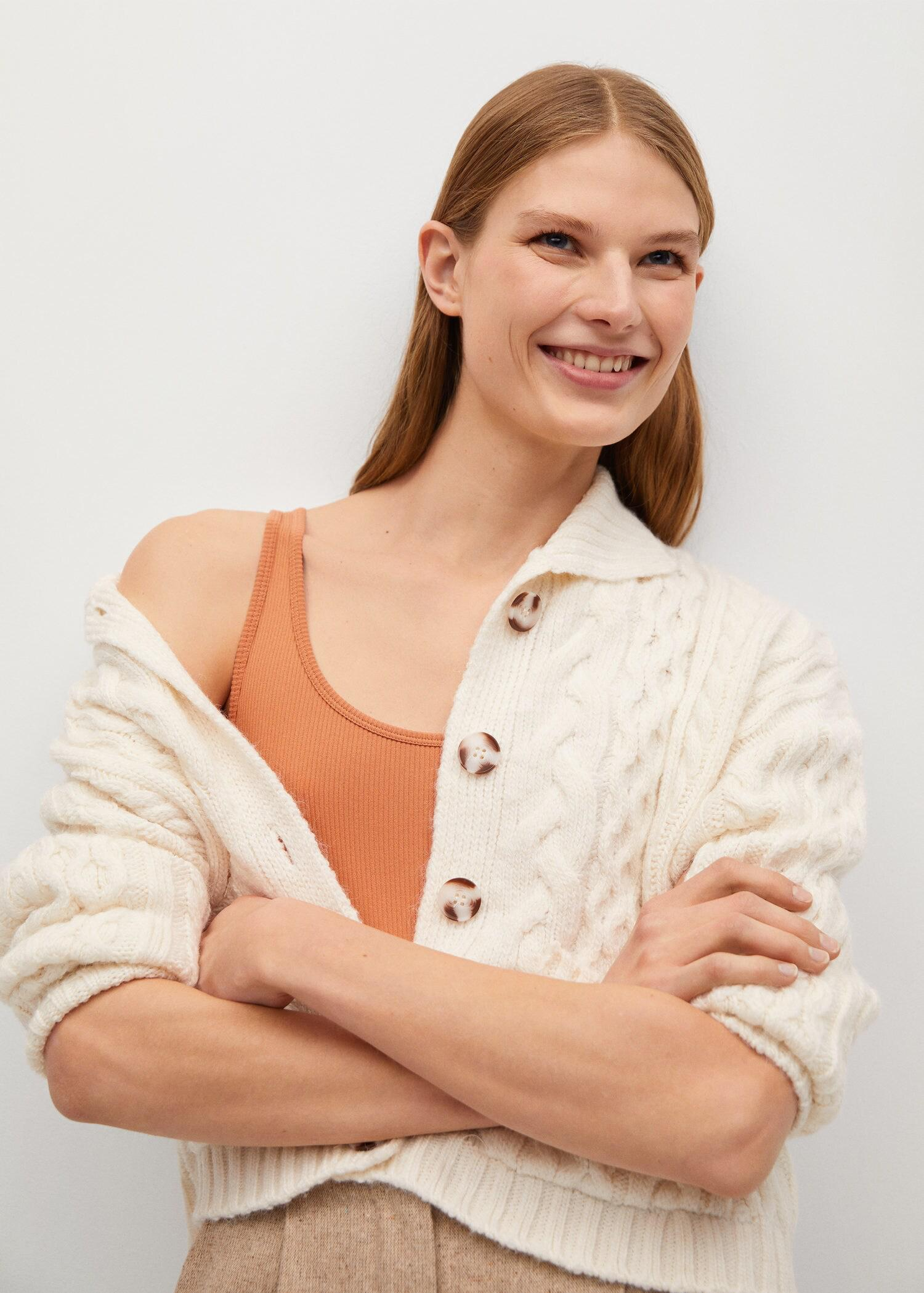 Combined knitted cardigan 3
