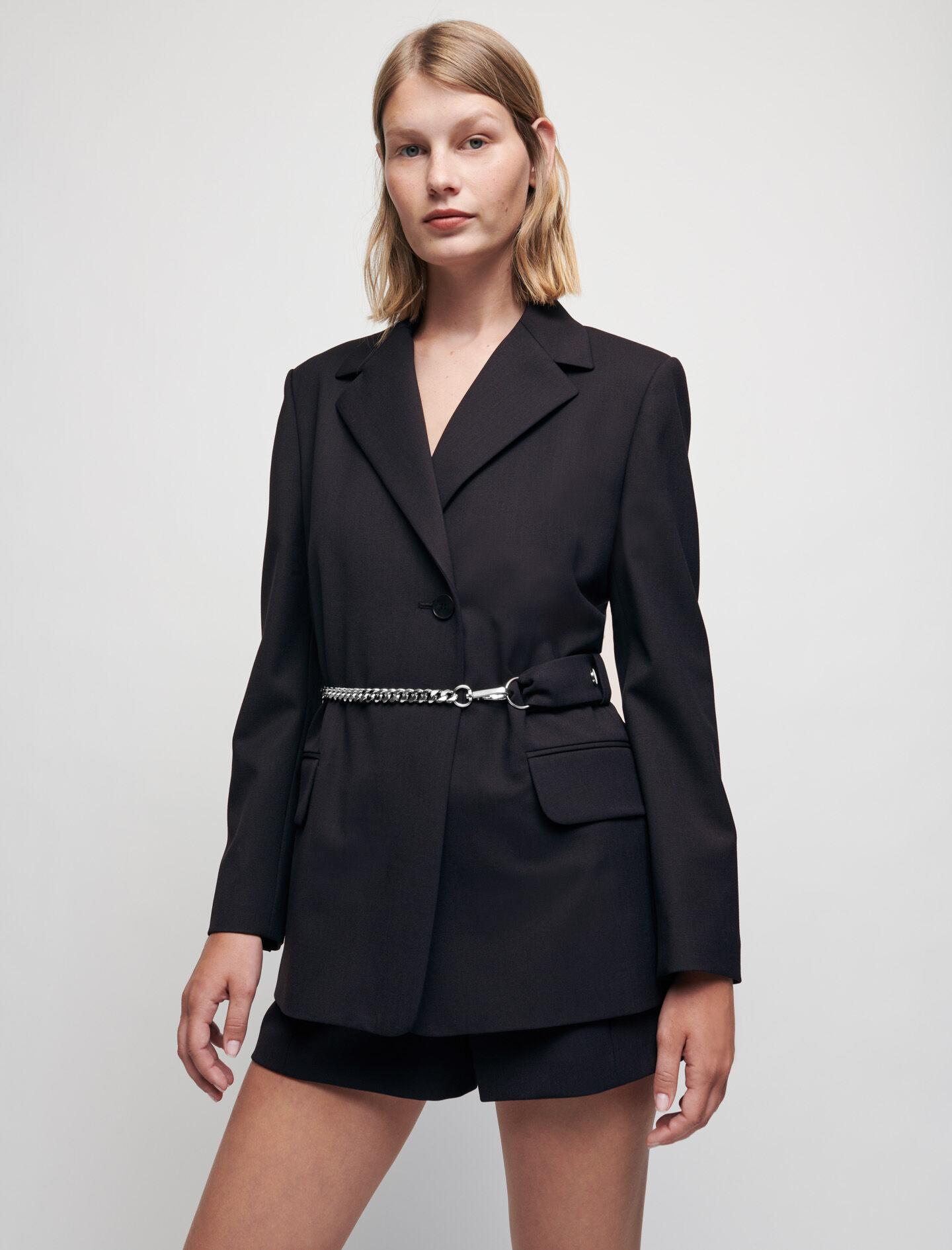 TAILORED JACKET WITH CHAIN BELT