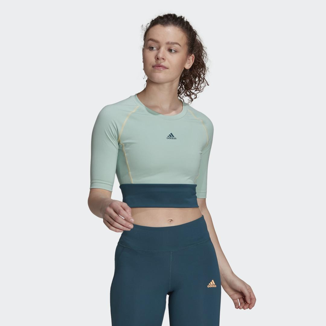 Fitted AEROREADY Sport Crop Top Hazy Green