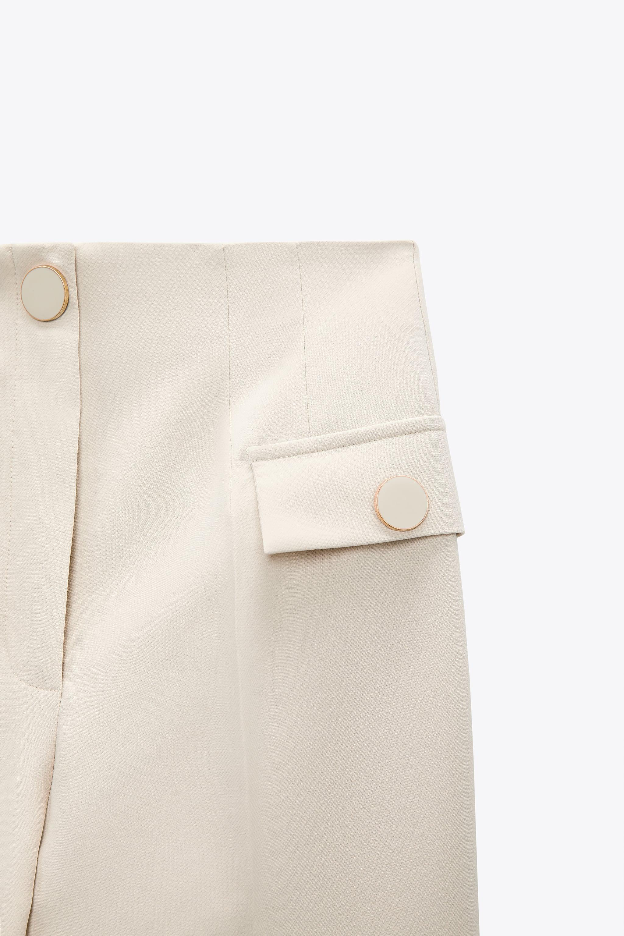 BUTTONED HIGH-WAISTED PANTS 6