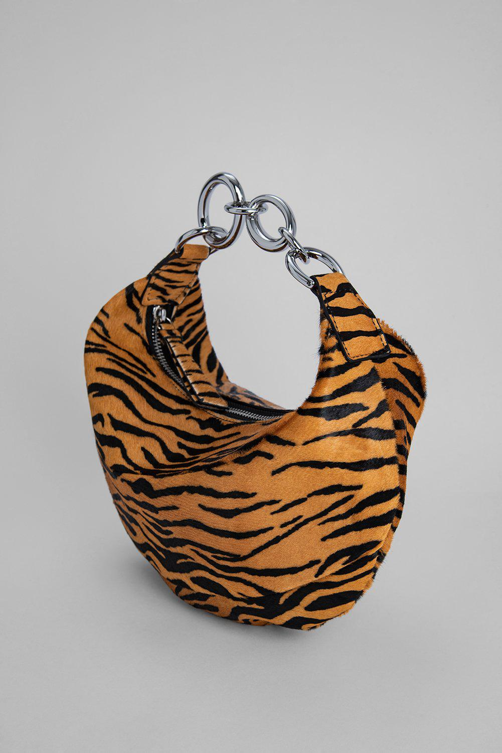 Bougie Tiger-Print Pony Hair Leather 4